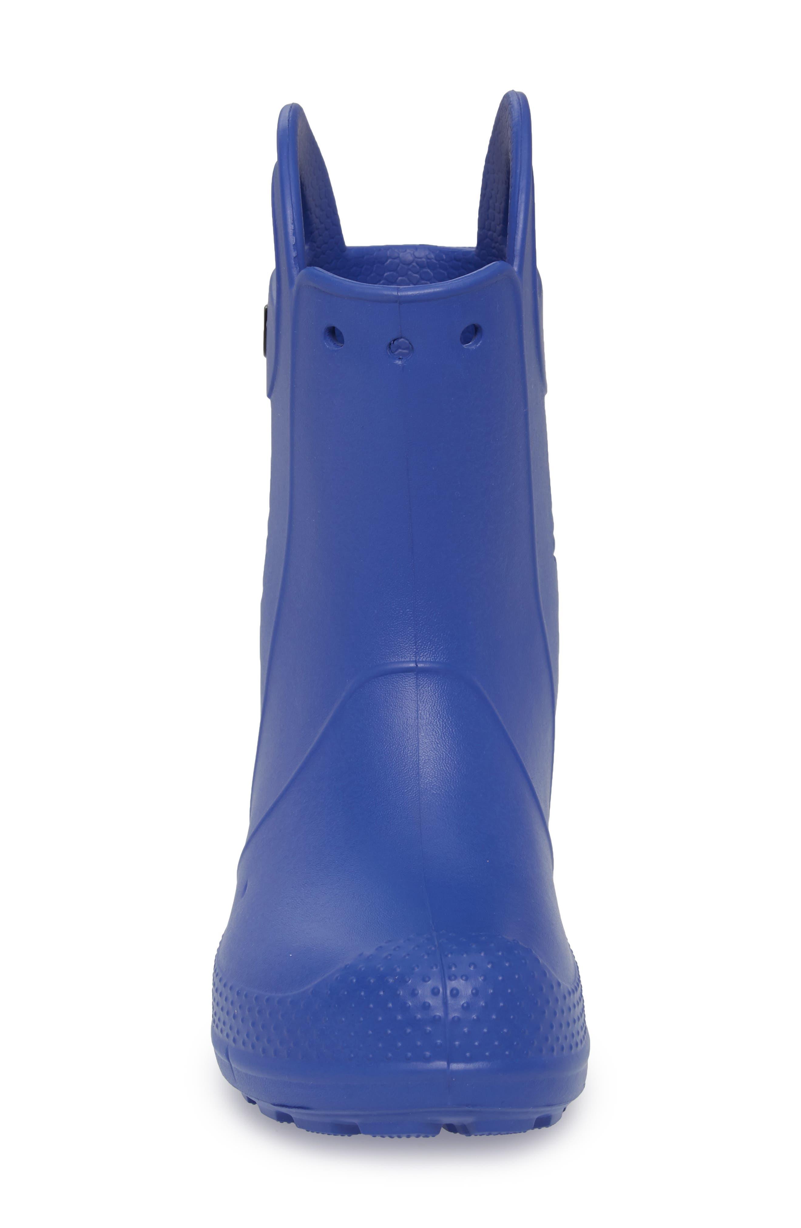 'Handle It' Rain Boot,                             Alternate thumbnail 4, color,                             Cerulean Blue