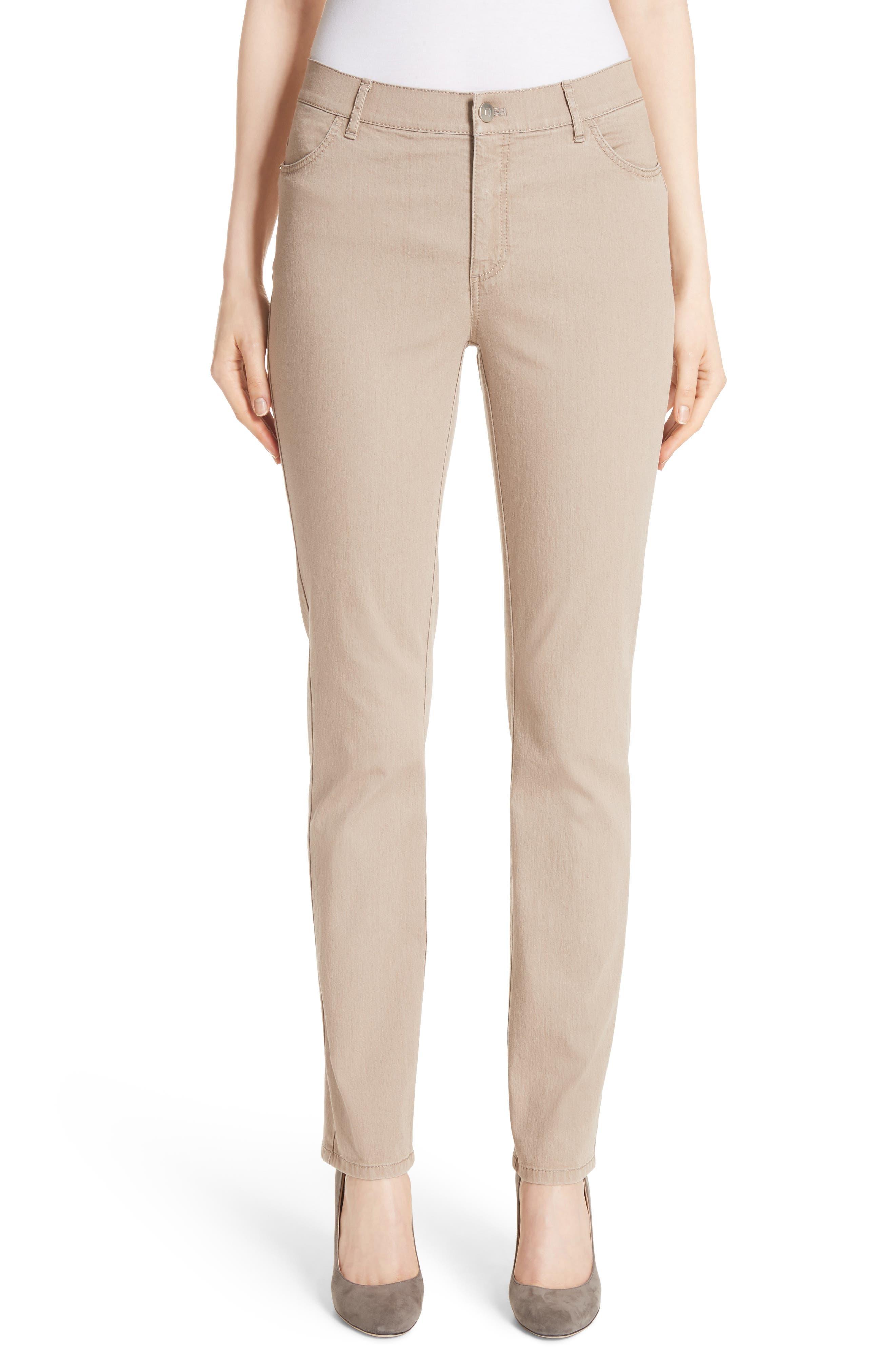 'Primo Denim' Curvy Fit Slim Leg Jeans,                         Main,                         color, Pumice
