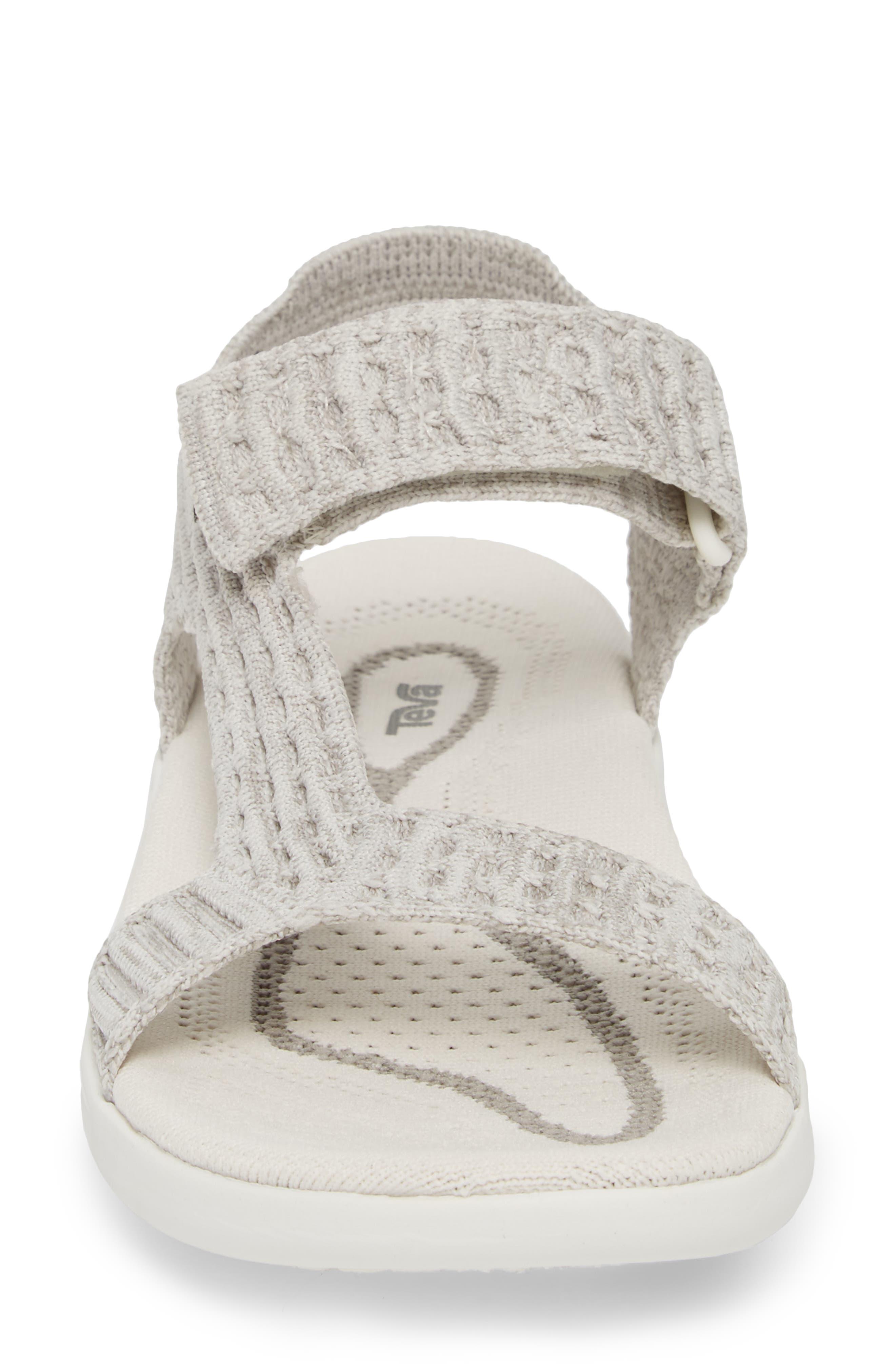 Terra Float 2 Knit Universal Sandal,                             Alternate thumbnail 4, color,                             Bright White Fabric