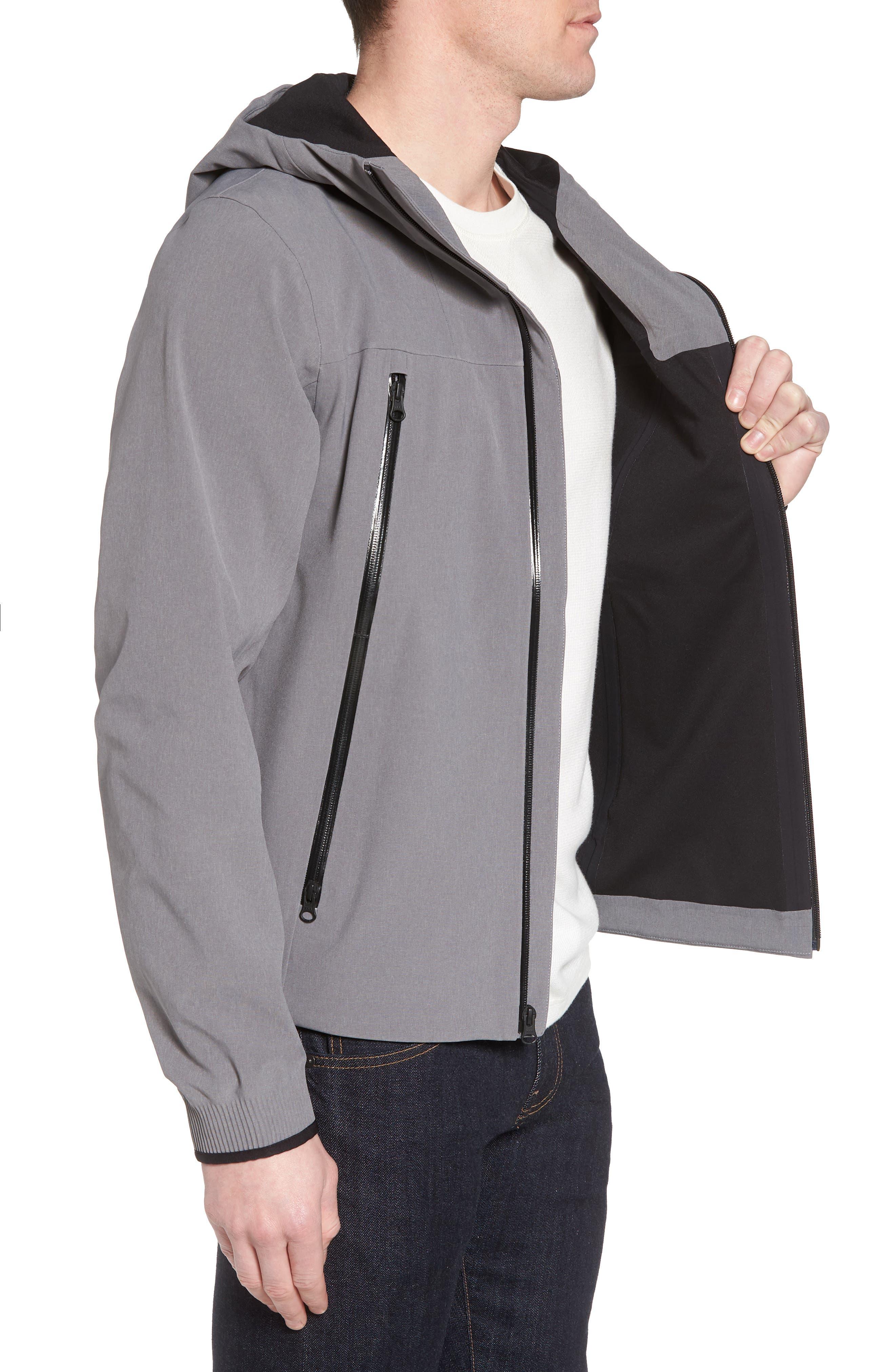 Apex Flex Gore-Tex<sup>®</sup> Waterproof Jacket,                             Alternate thumbnail 3, color,                             Medium Grey Heather