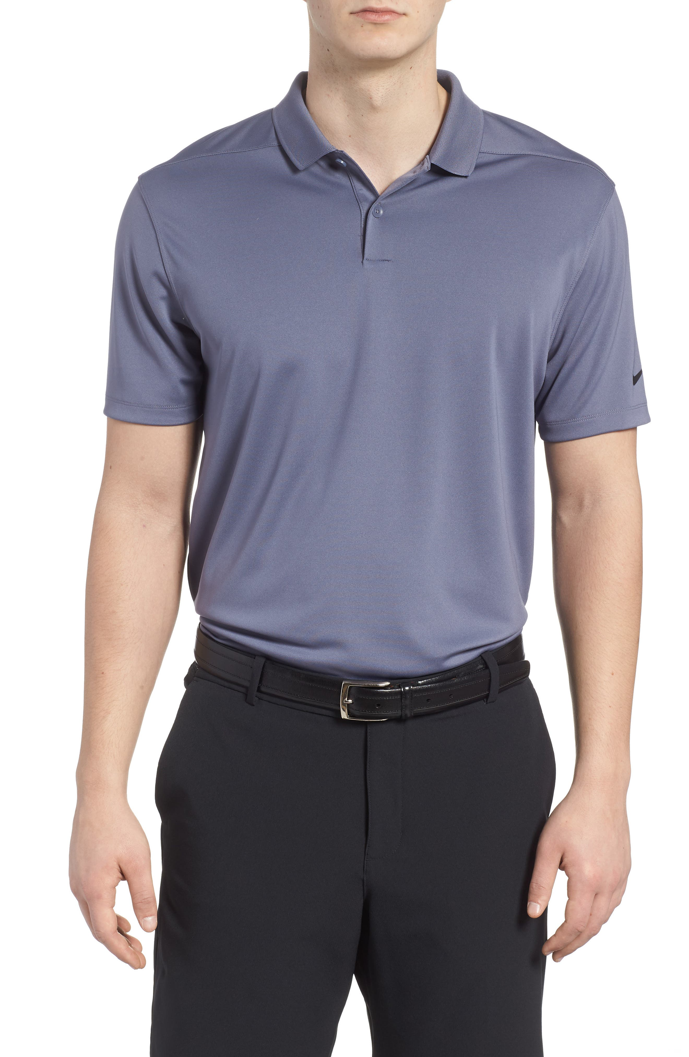 Dry Victory Golf Polo,                             Main thumbnail 1, color,                             Light Carbon/ Black
