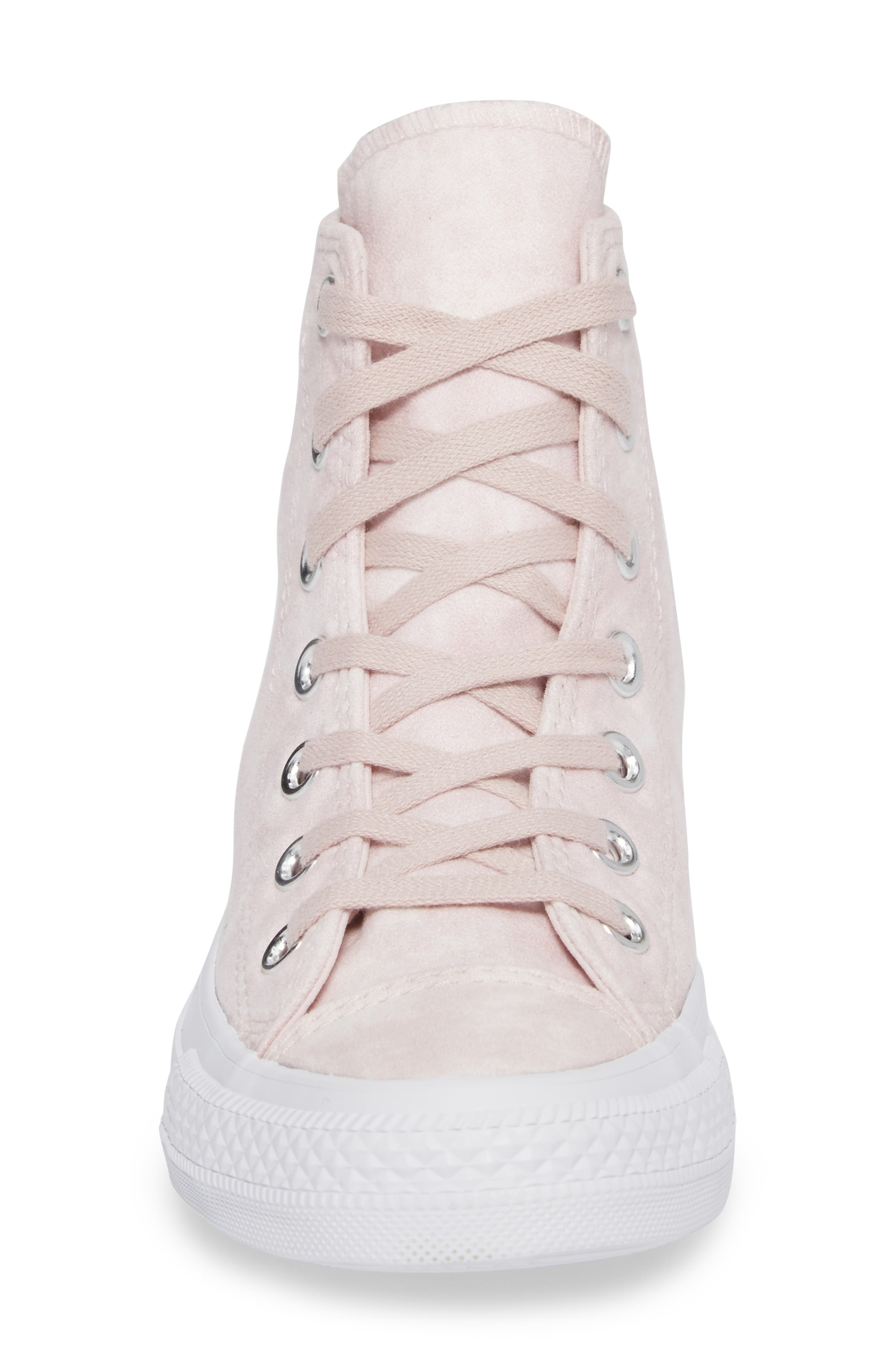 Chuck Taylor<sup>®</sup> All Star<sup>®</sup> Peached High Top Sneaker,                             Alternate thumbnail 4, color,                             Barely Rose