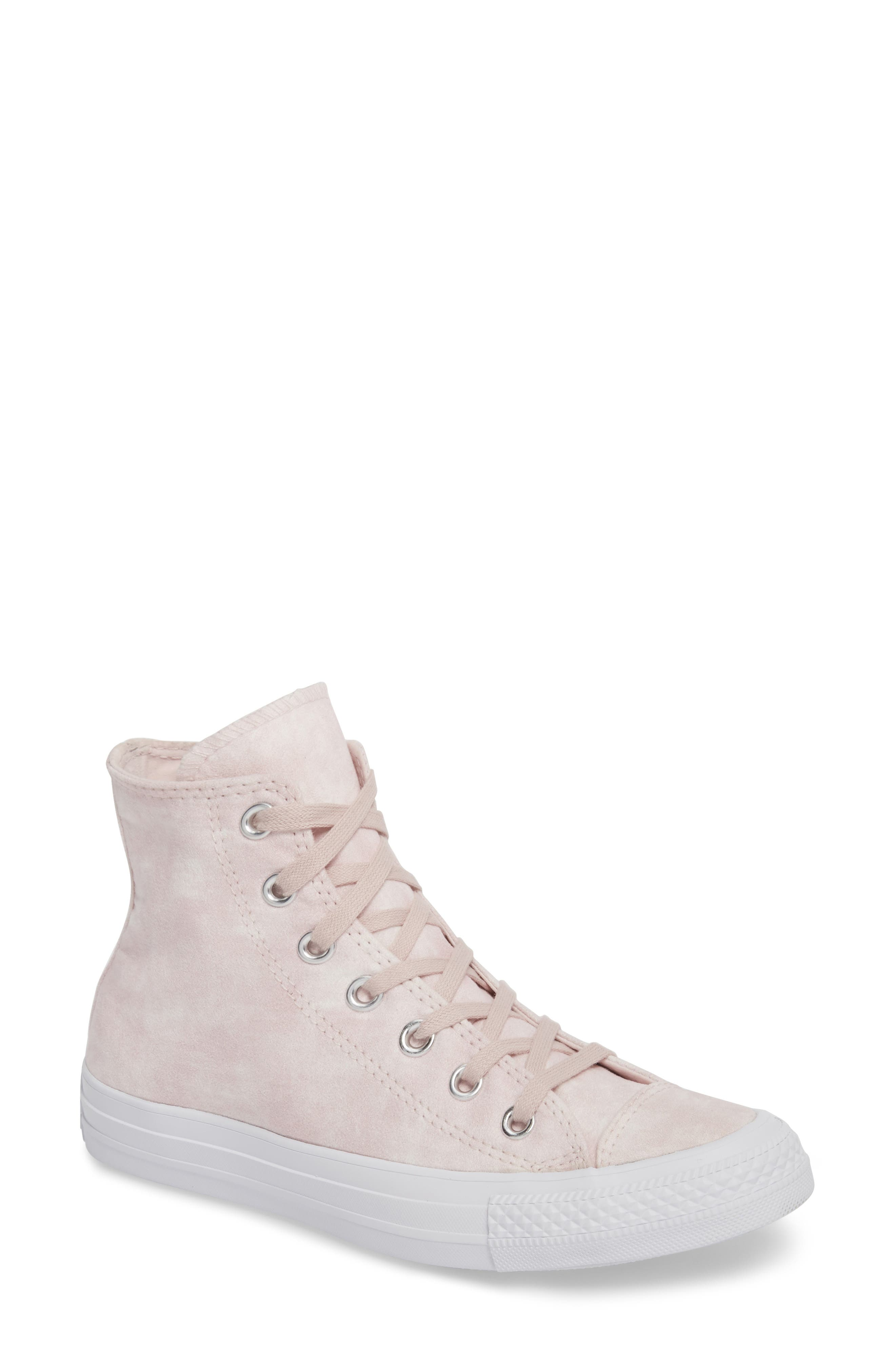 Chuck Taylor<sup>®</sup> All Star<sup>®</sup> Peached High Top Sneaker,                             Main thumbnail 1, color,                             Barely Rose
