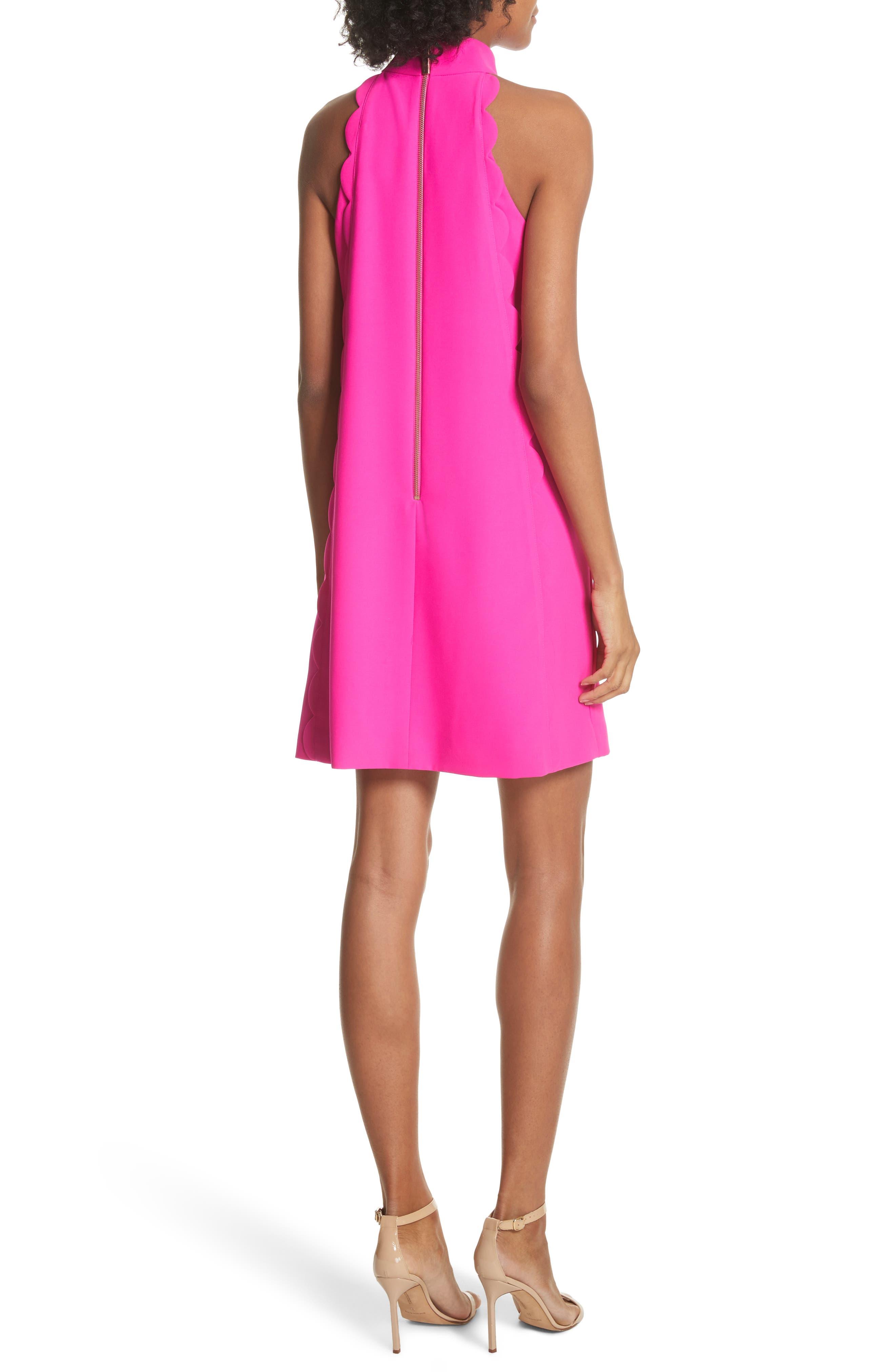Torrii High Neck Tunic Dress,                             Alternate thumbnail 2, color,                             Bright Pink