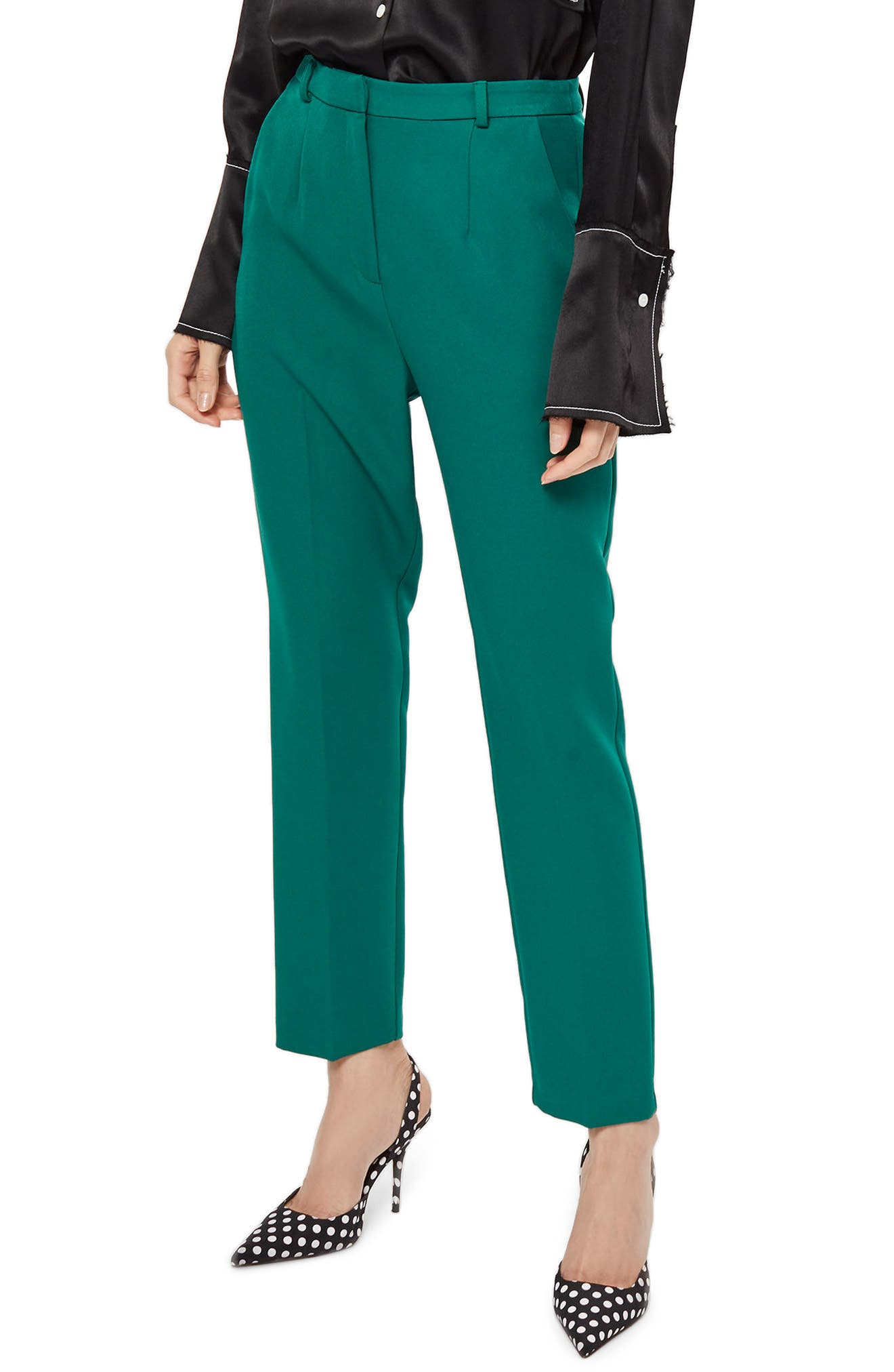 Cory Cigarette Suit Trousers,                             Main thumbnail 1, color,                             Green