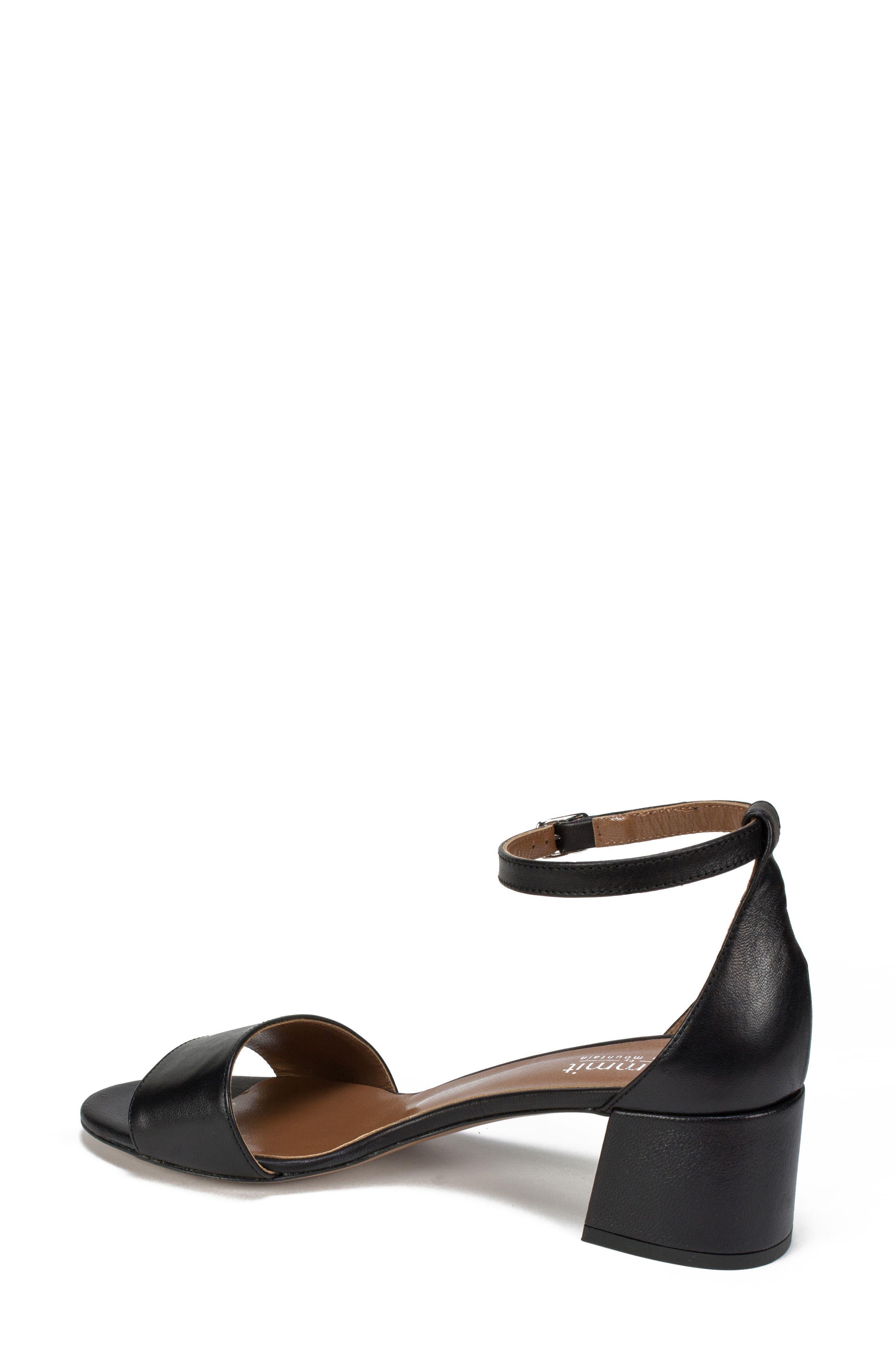 Ameila Block Heel Sandal,                             Alternate thumbnail 2, color,                             Black Leather