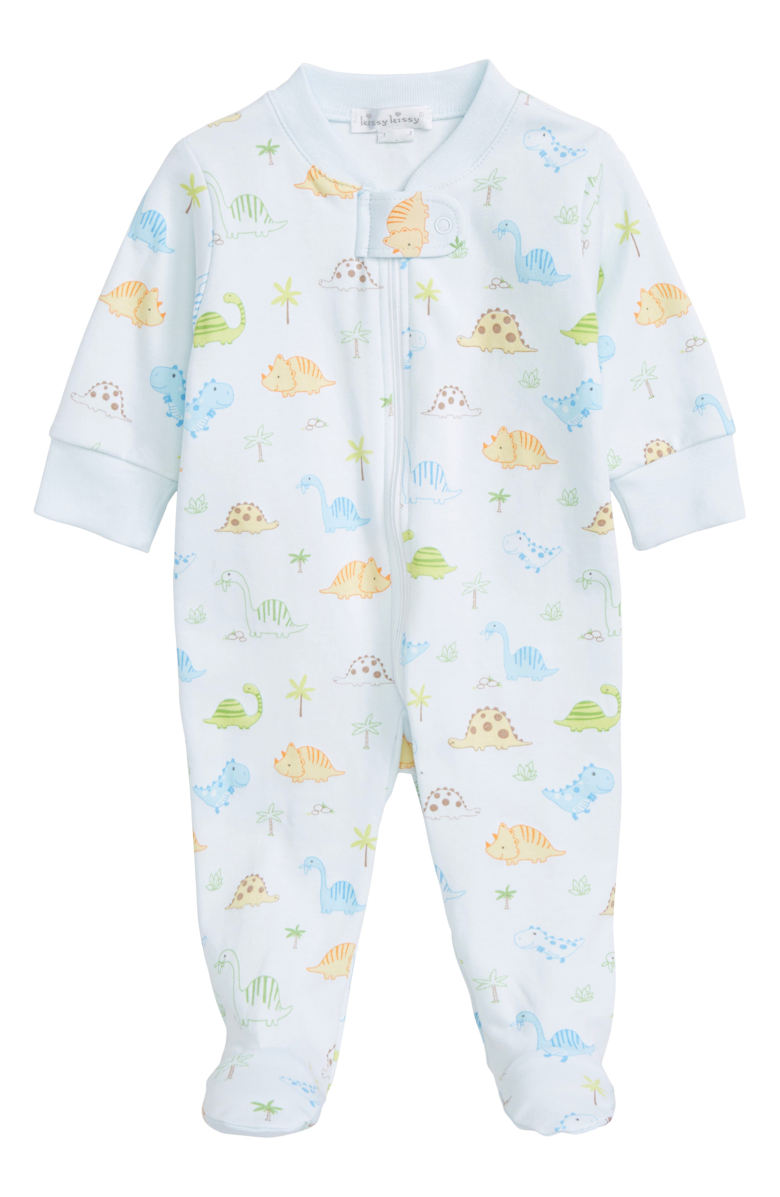 Kissy Kissy Dino Dudes Pima Cotton Footie (Baby Boys)