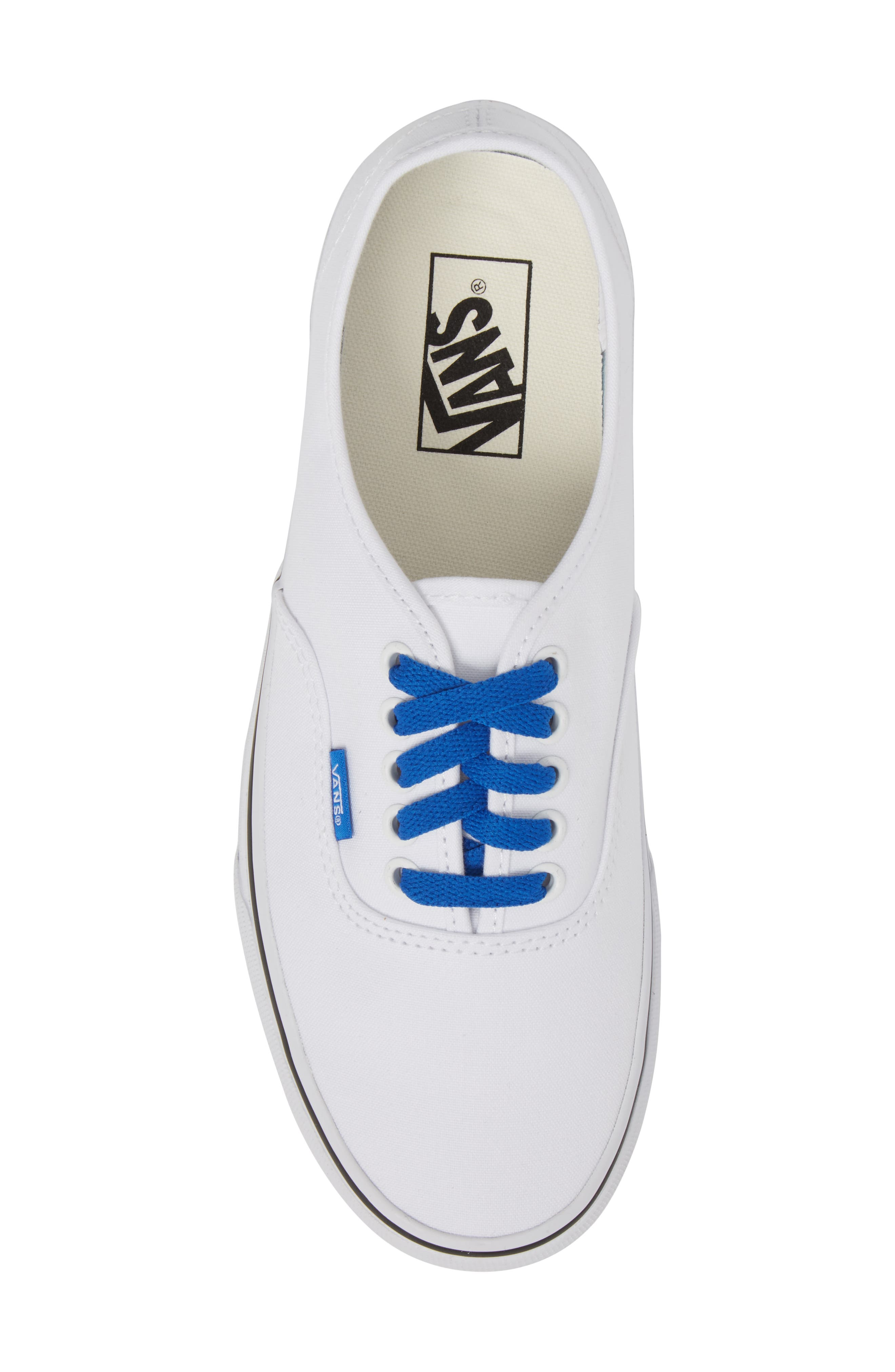 Authentic Sketch Sidewall Sneaker,                             Alternate thumbnail 5, color,                             True White/ Victoria Blue