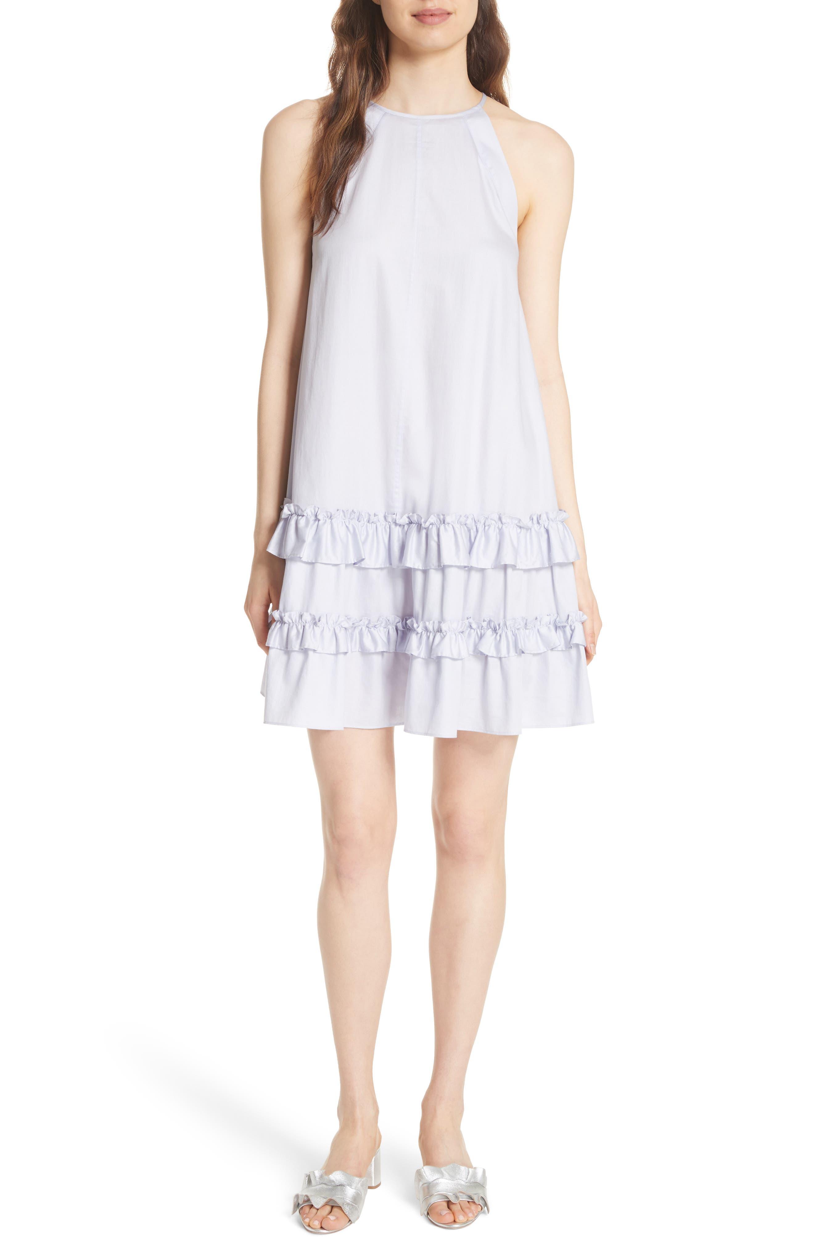 Sleeveless Cotton Tank Dress,                         Main,                         color, Sky