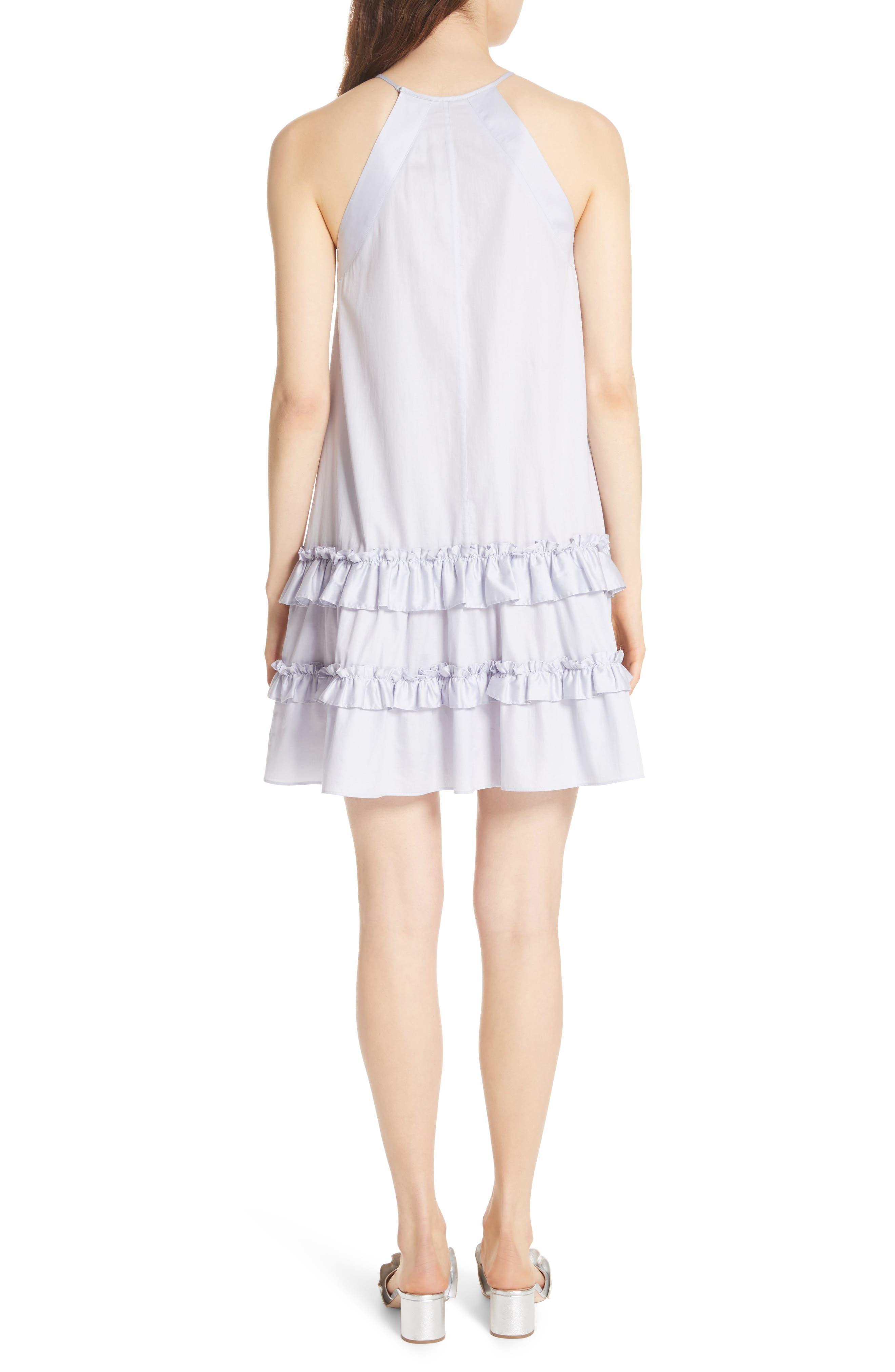 Alternate Image 2  - Rebecca Taylor Sleeveless Cotton Tank Dress