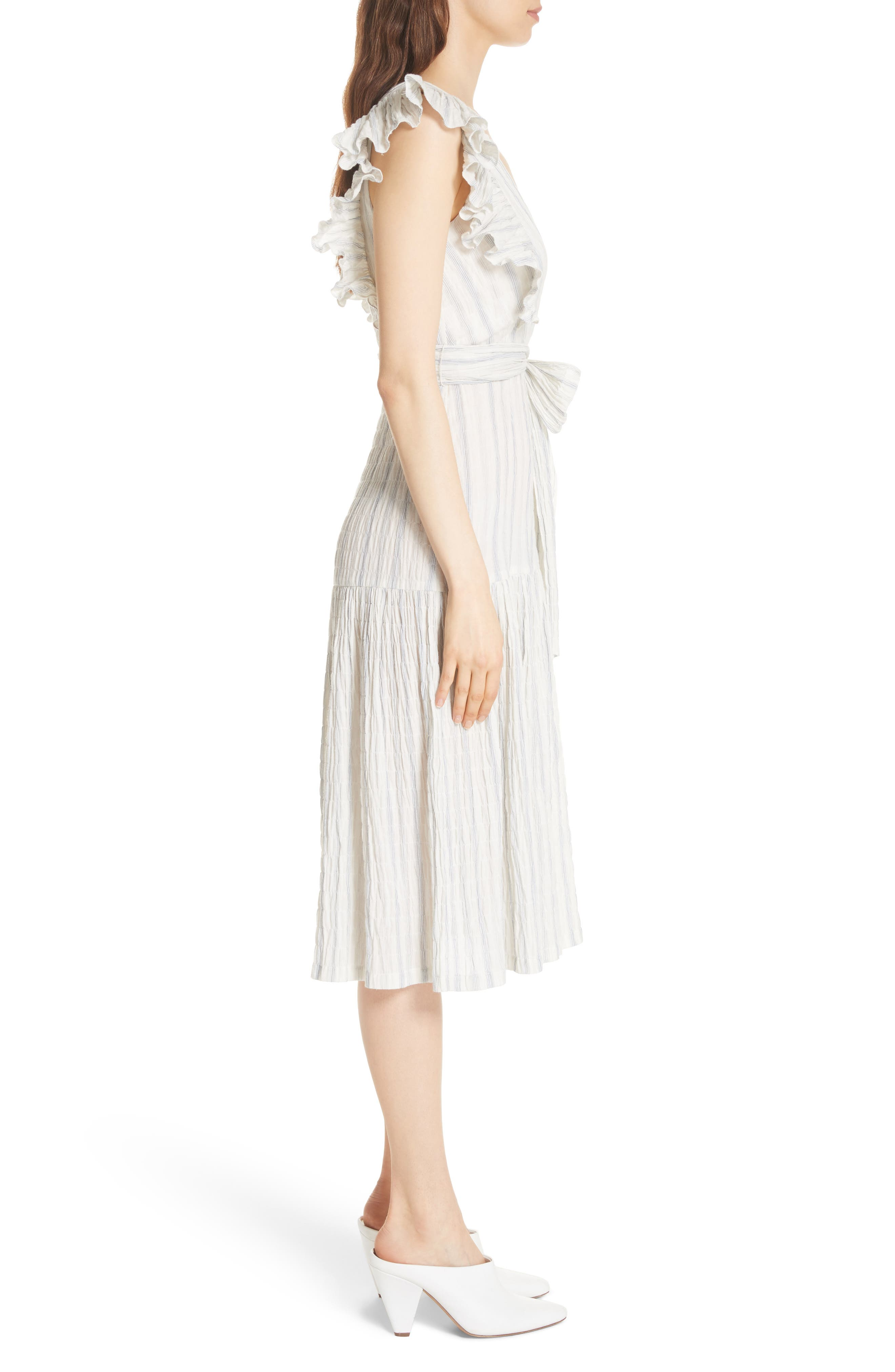 Alternate Image 3  - Rebecca Taylor Stripe Midi Dress