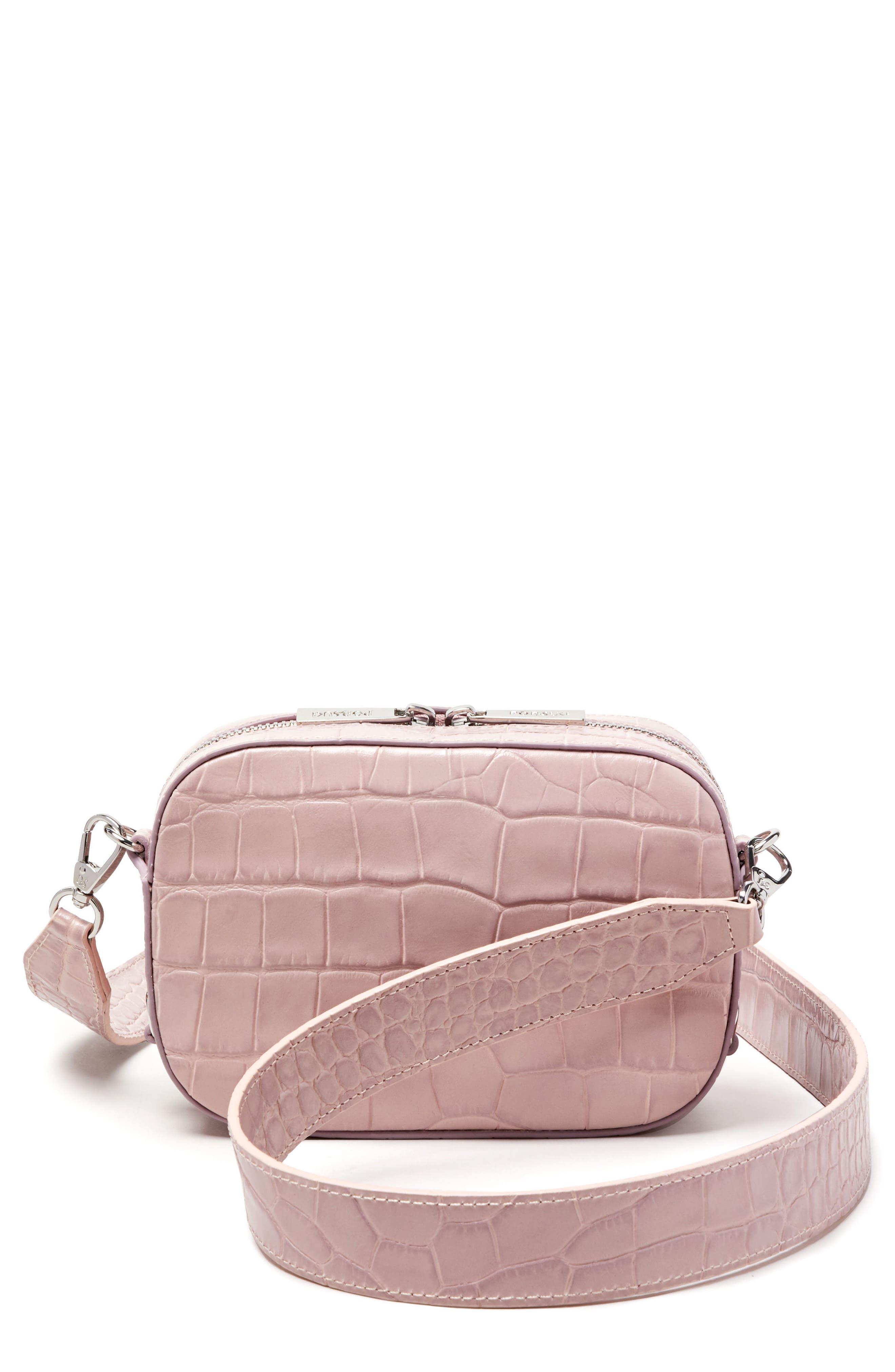 Pop & Suki Croc Embossed Camera Bag (Nordstrom Exclusive)