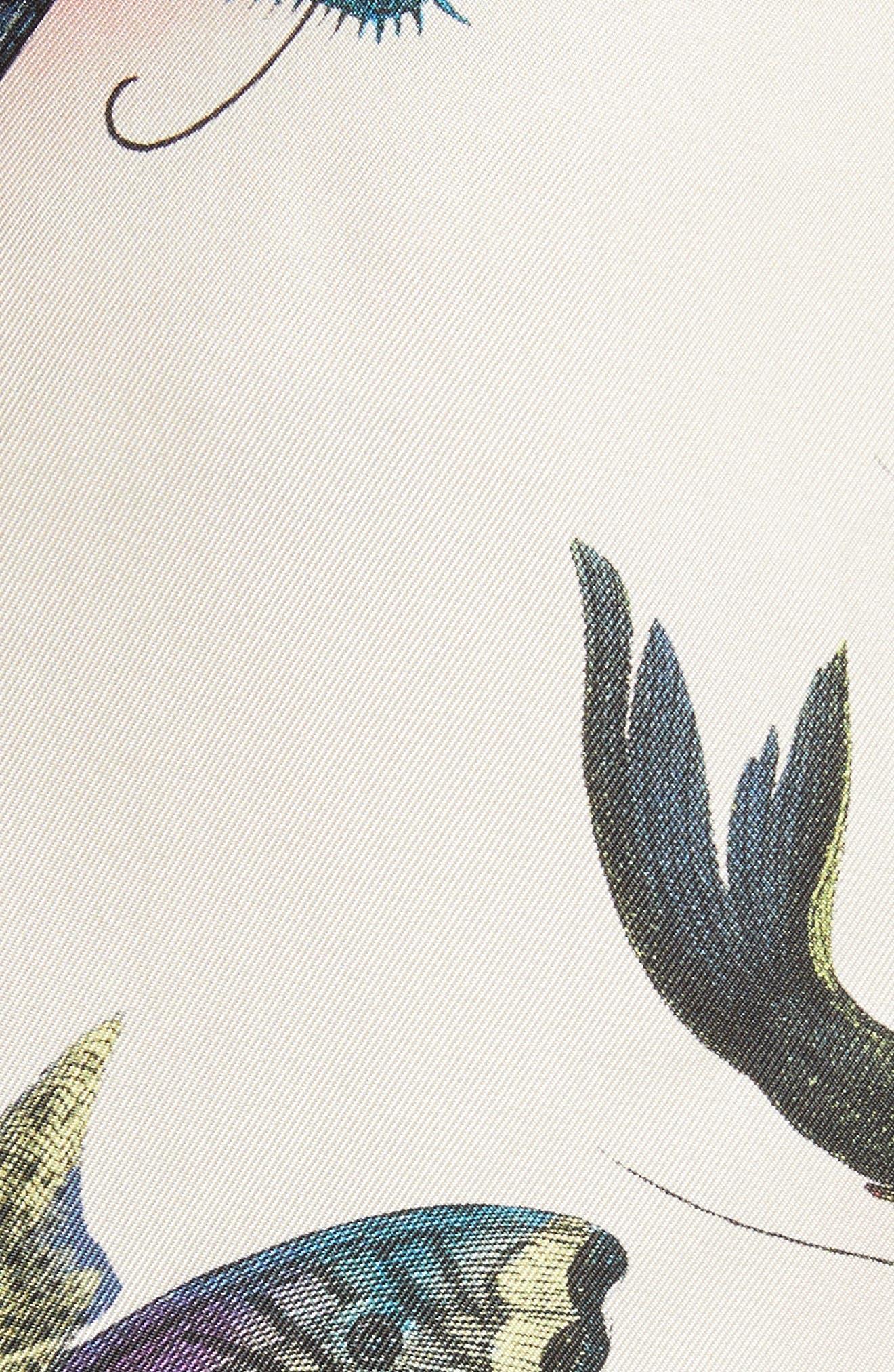 Flying Fish Silk Bowling Shirt,                             Alternate thumbnail 5, color,                             9273 Ivory