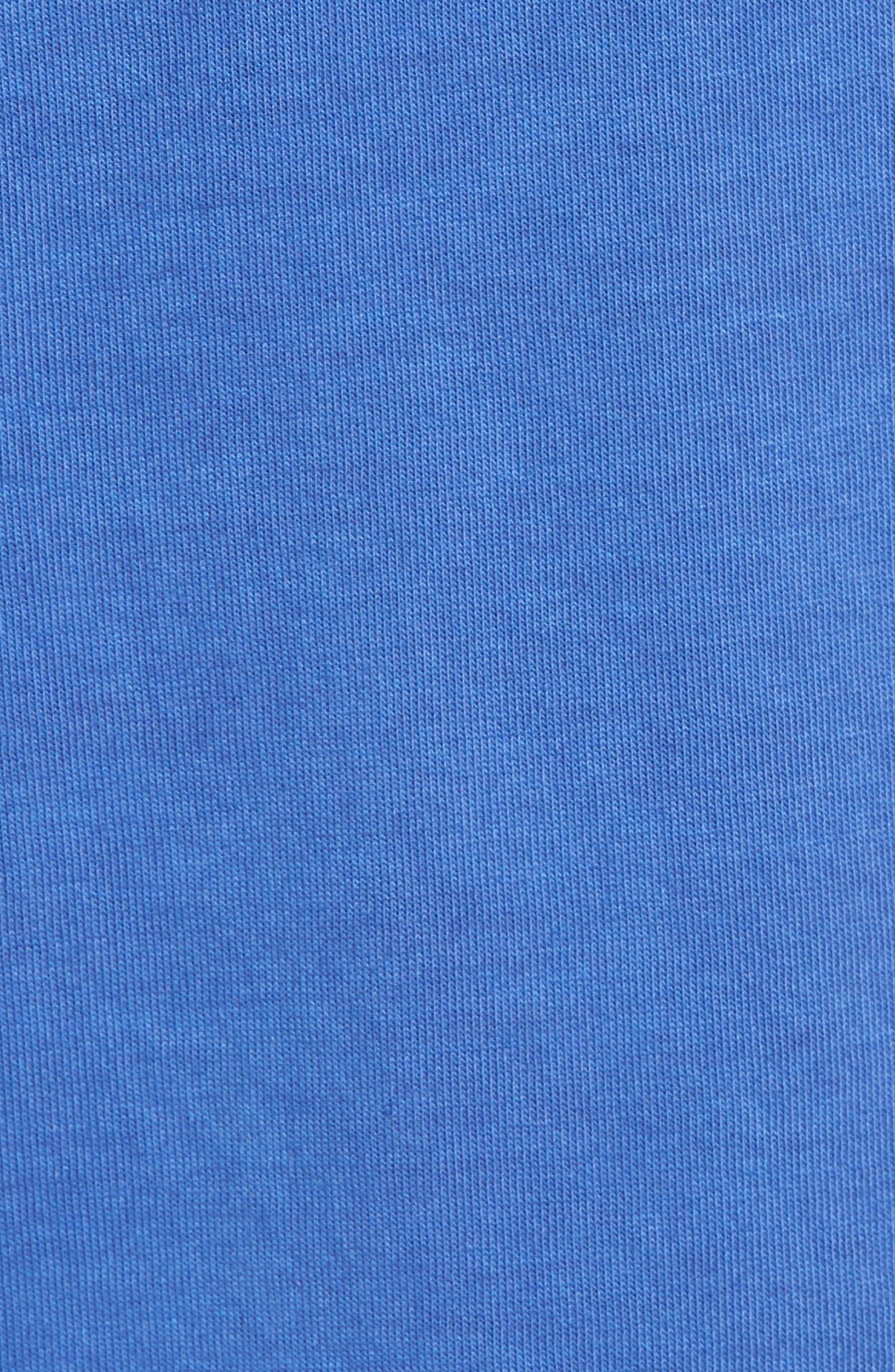 Peruvian Pima Cotton Lounge Shorts,                             Alternate thumbnail 4, color,                             Cobalt Blue