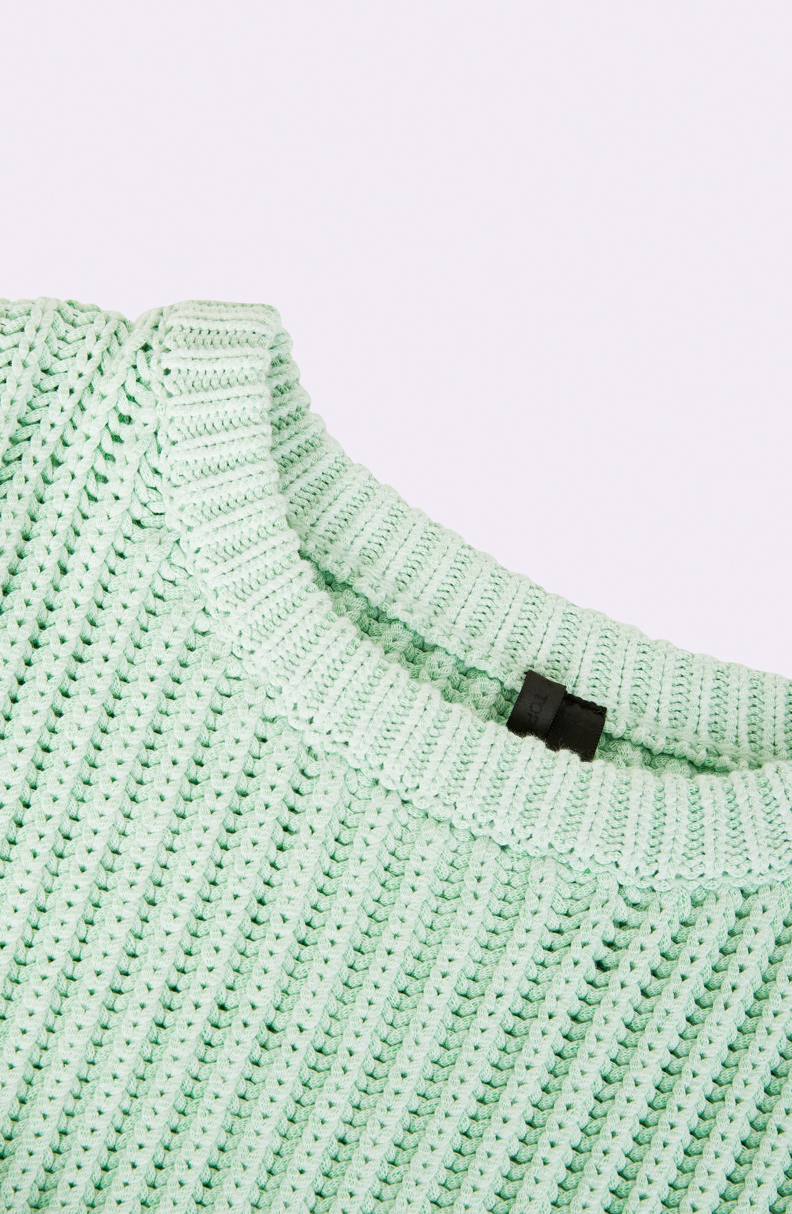 Fisherman Crewneck Sweater,                             Alternate thumbnail 4, color,                             Light Green