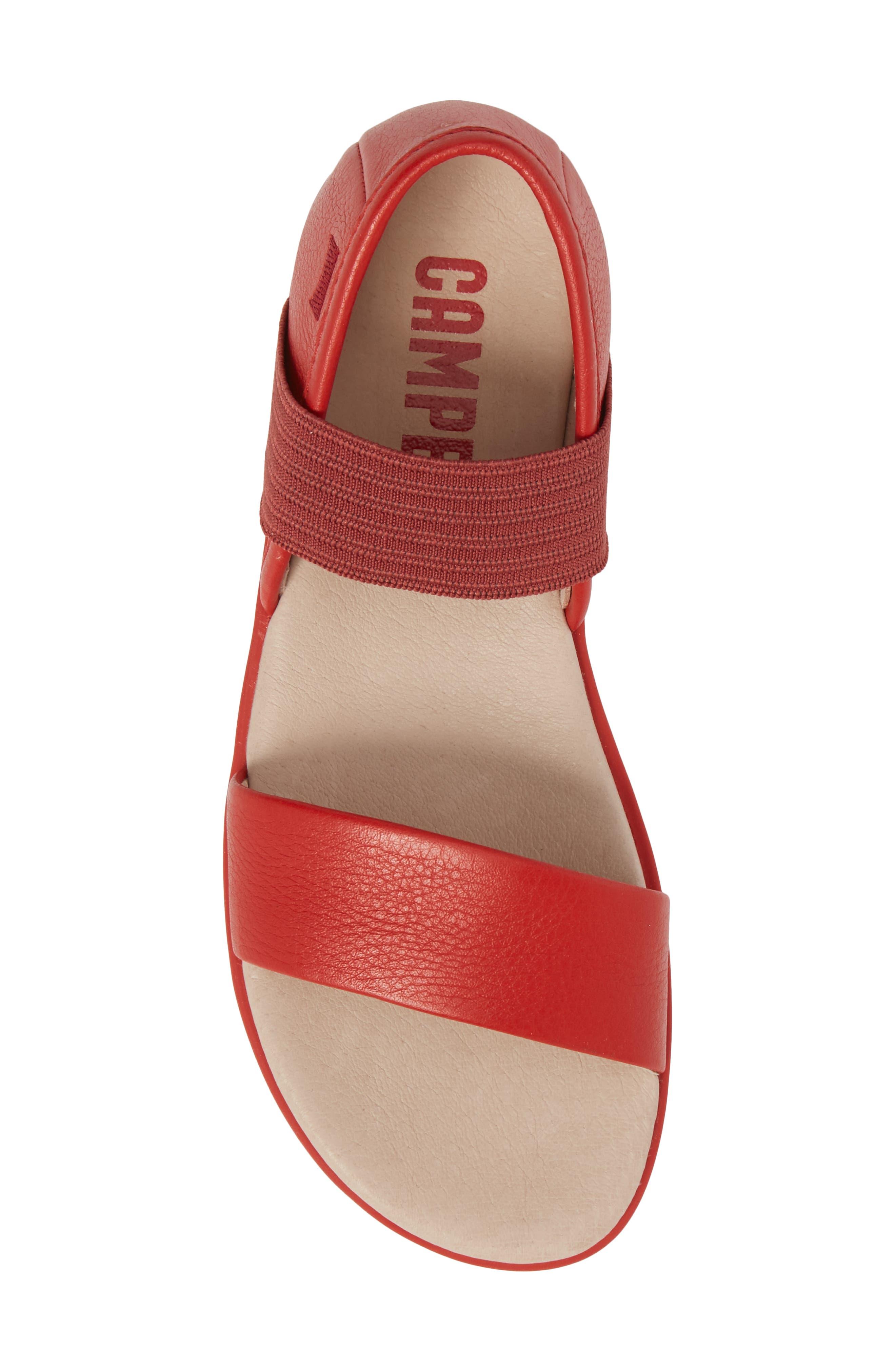 Right Sandal,                             Alternate thumbnail 5, color,                             Red