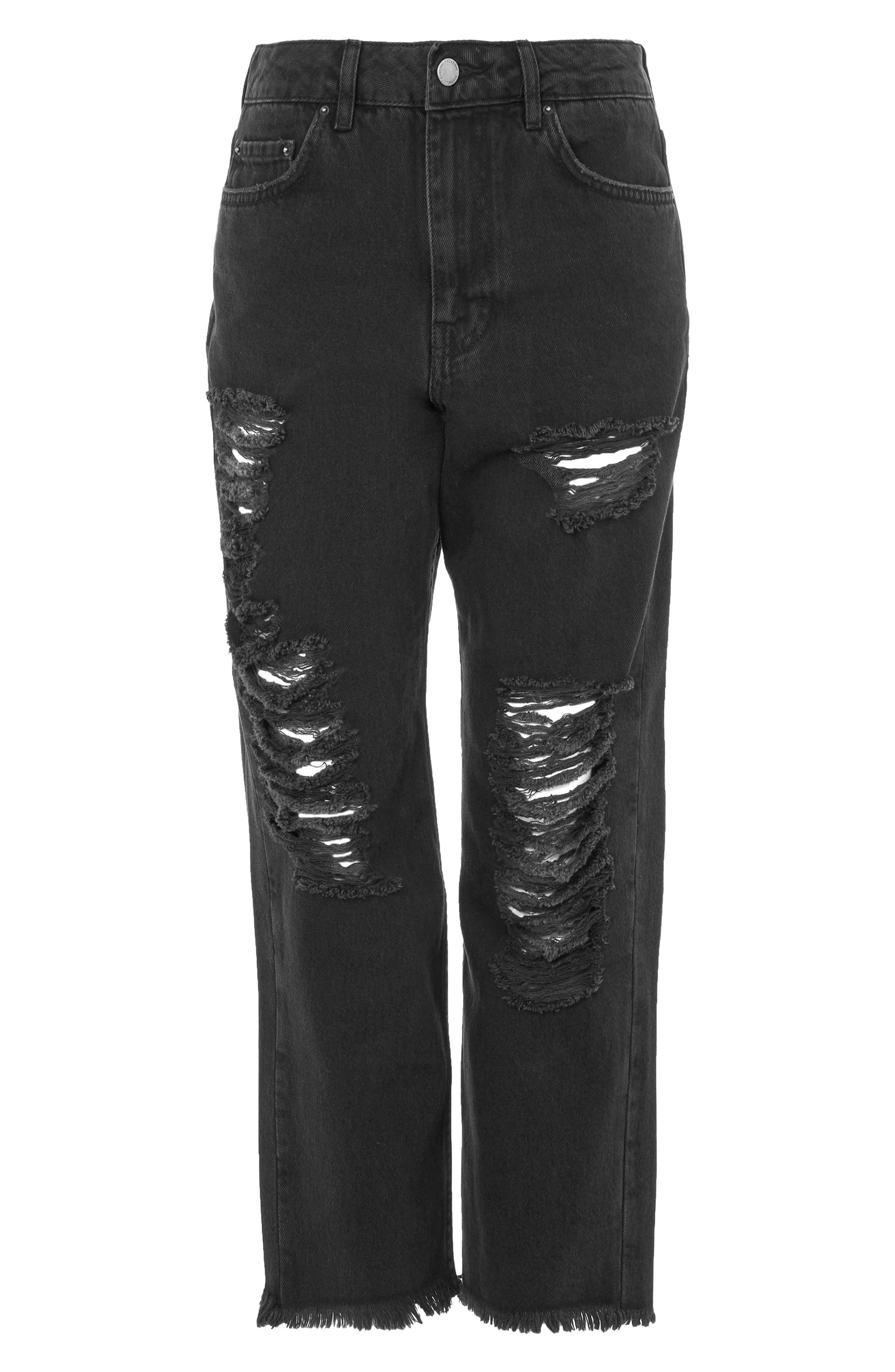 Distressed Jeans,                             Main thumbnail 1, color,                             Washed Black