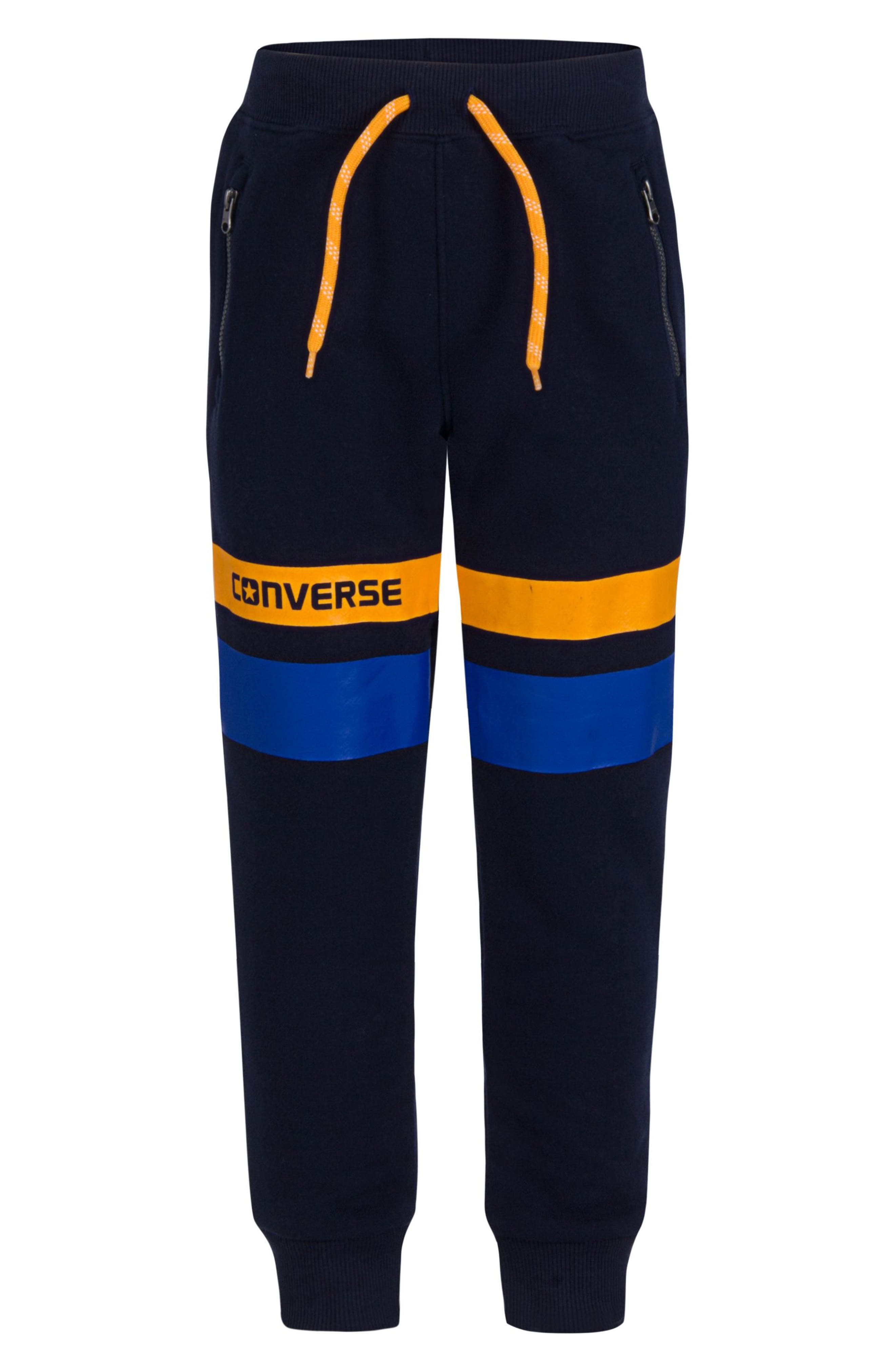 Alternate Image 1 Selected - Converse Colorblock Jogger Pants (Big Boys)