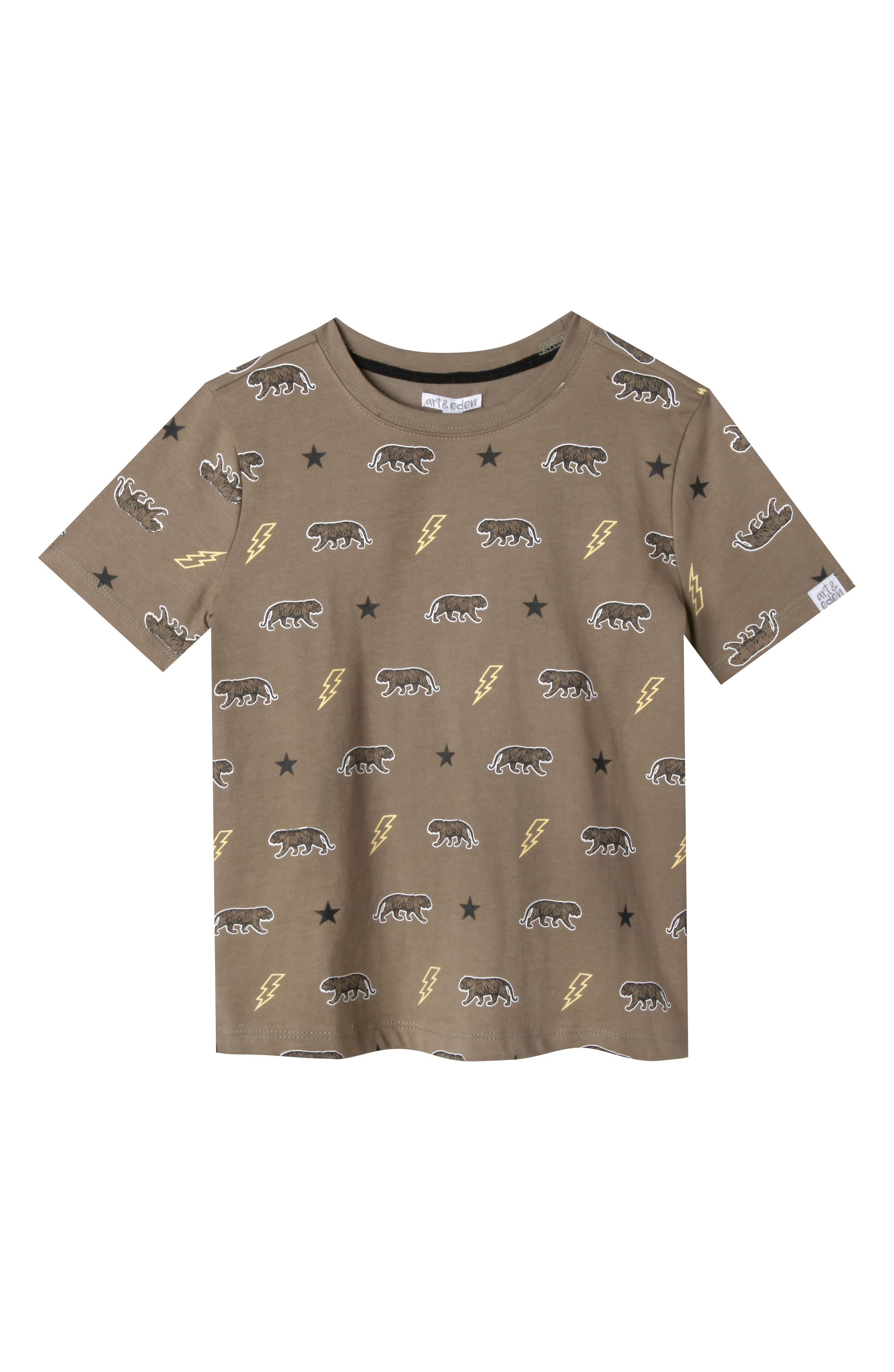 Samuel Organic Cotton T-Shirt,                         Main,                         color, Olive Branch