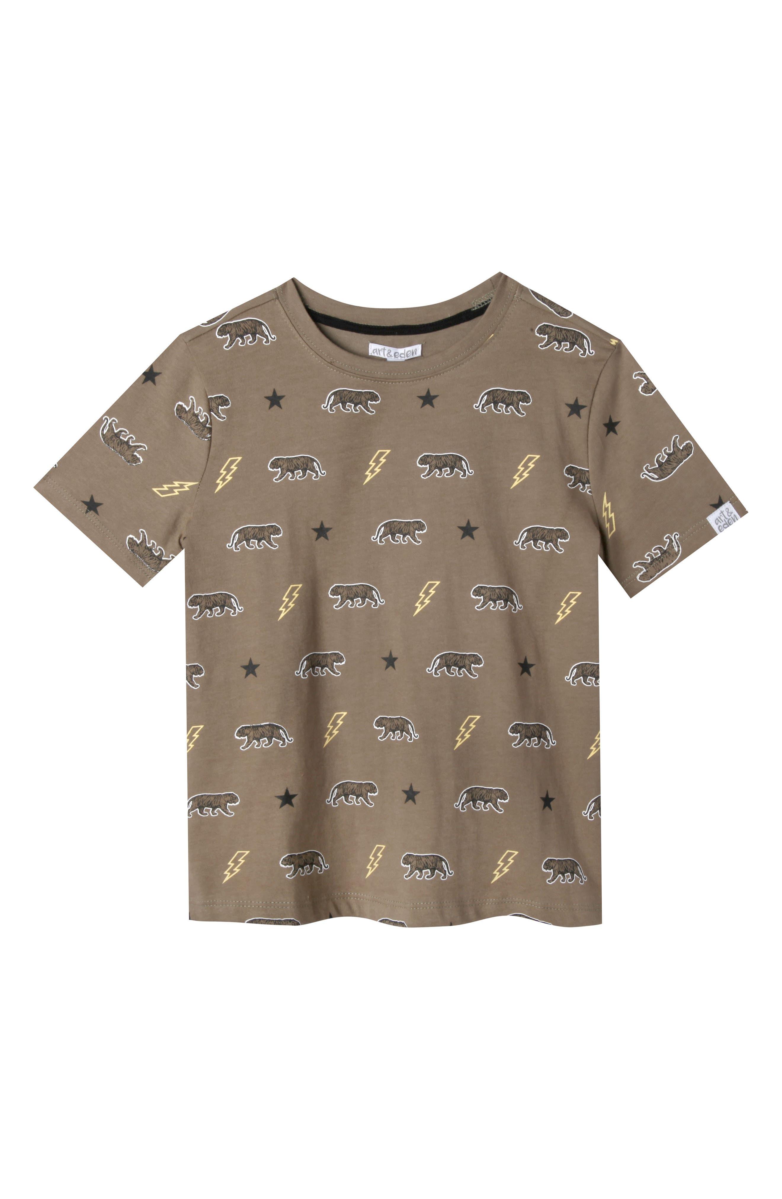 Art & Eden Samuel Organic Cotton T-Shirt (Toddler Boys, Little Boys & Big Boys)