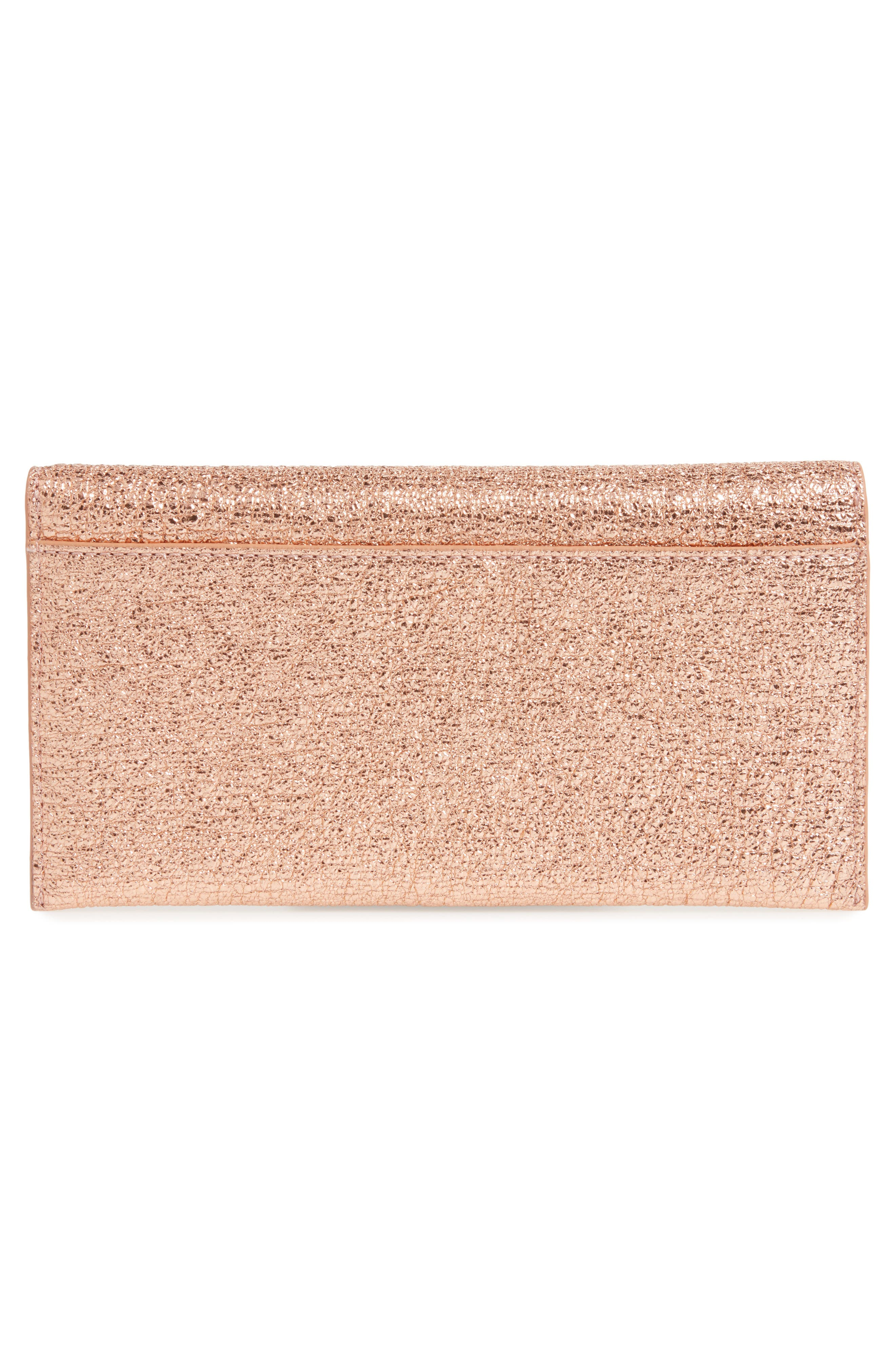 Everything Leather Wallet,                             Alternate thumbnail 4, color,                             Topaz