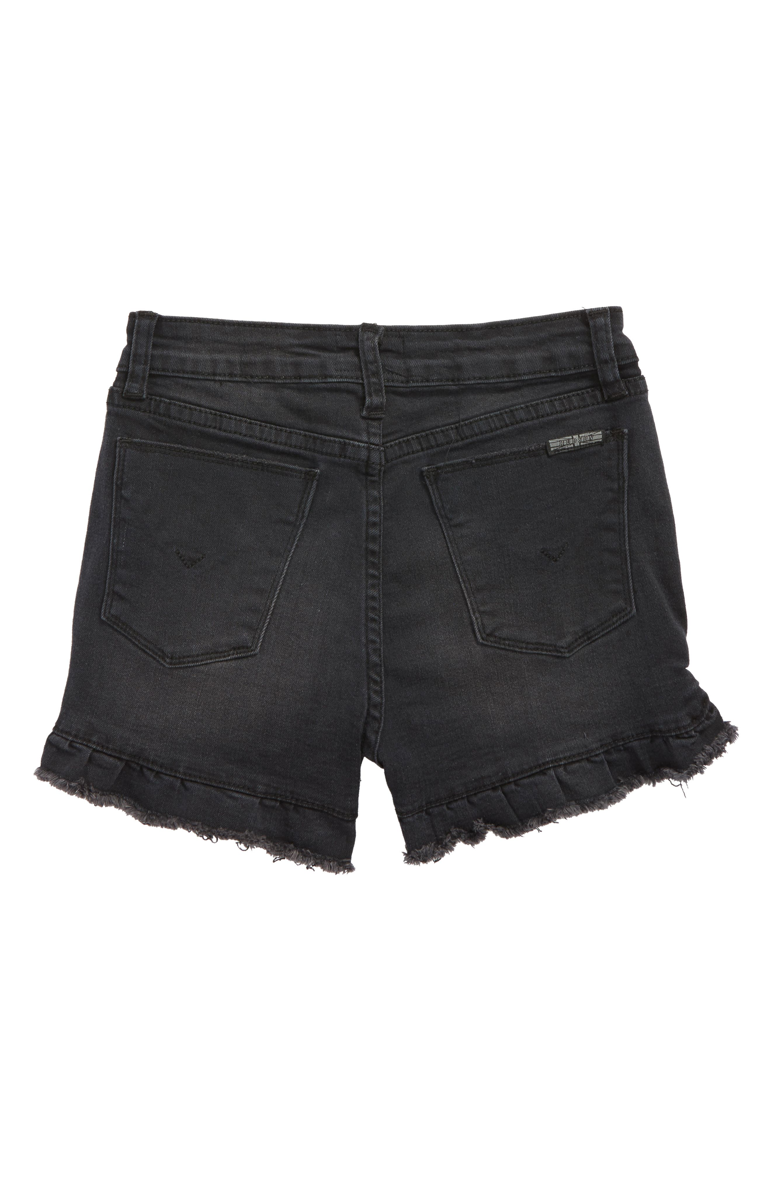 Vintage High Waist Ruffle Shorts,                             Alternate thumbnail 2, color,                             Beaten Blue
