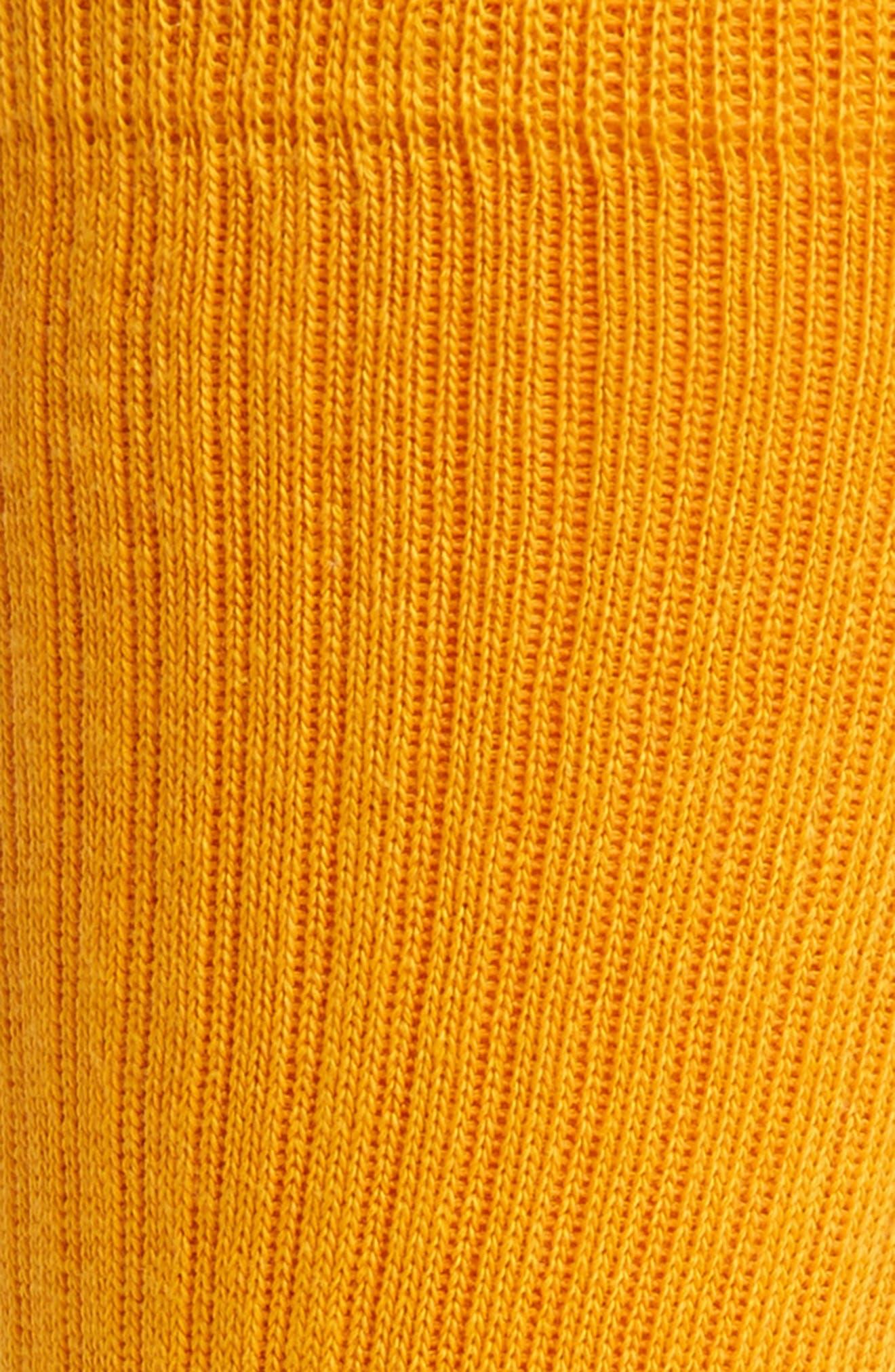 'Icon' Crew Socks,                             Alternate thumbnail 2, color,                             Gold