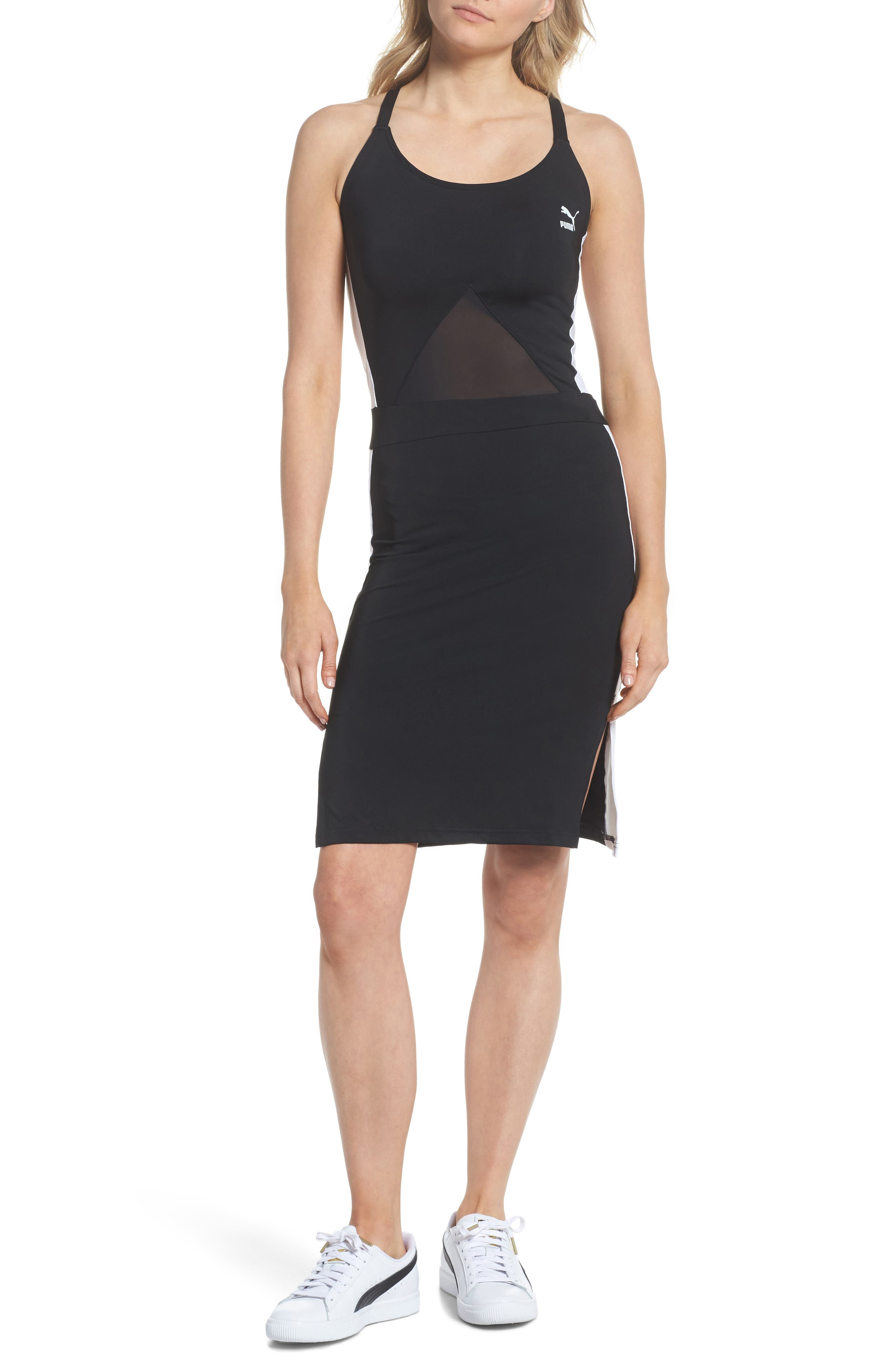 Archive T7 Dress,                             Main thumbnail 1, color,                             Puma Black