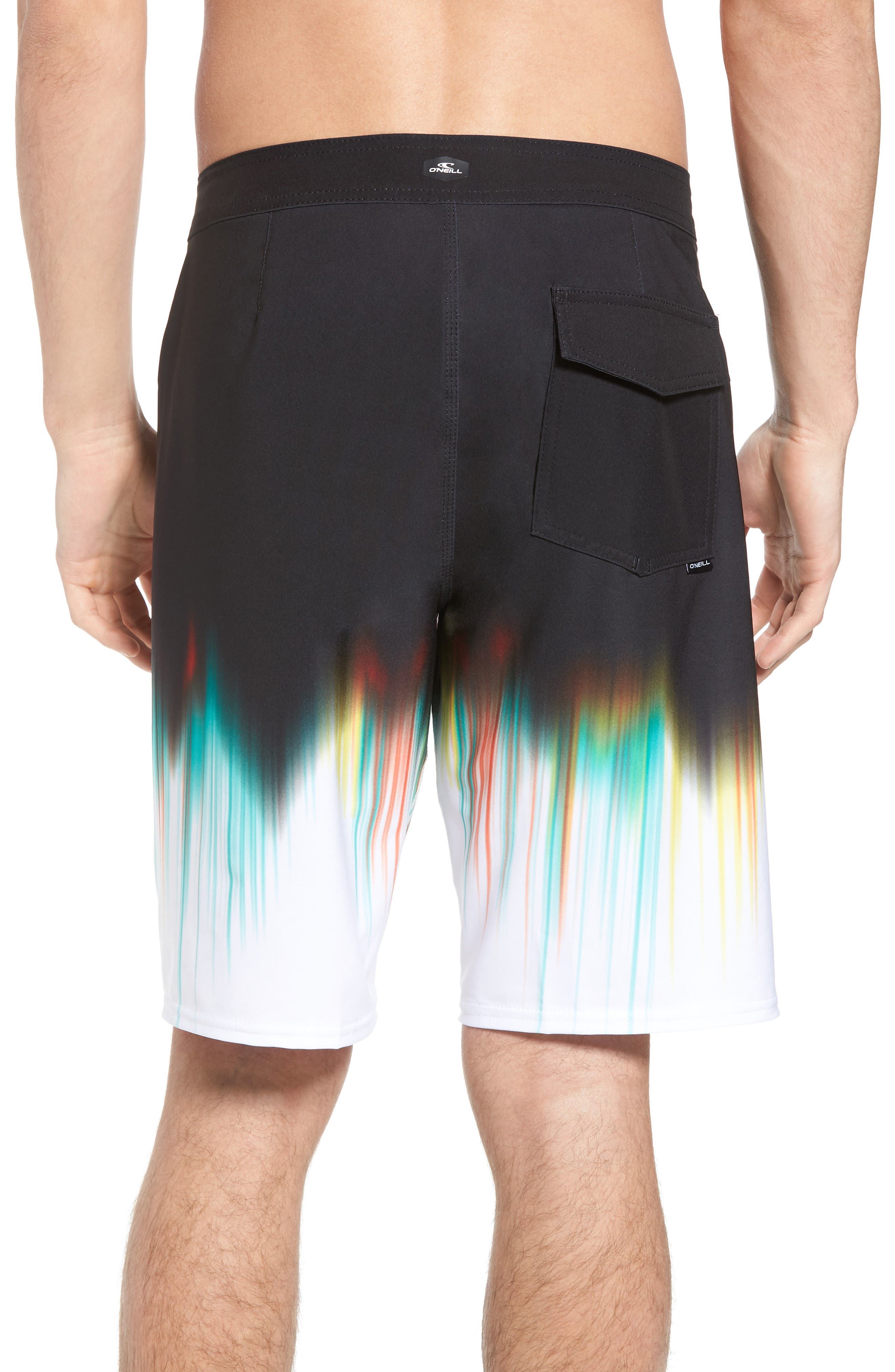 Hyperfreak Drippin' Board Shorts,                             Alternate thumbnail 2, color,                             Black