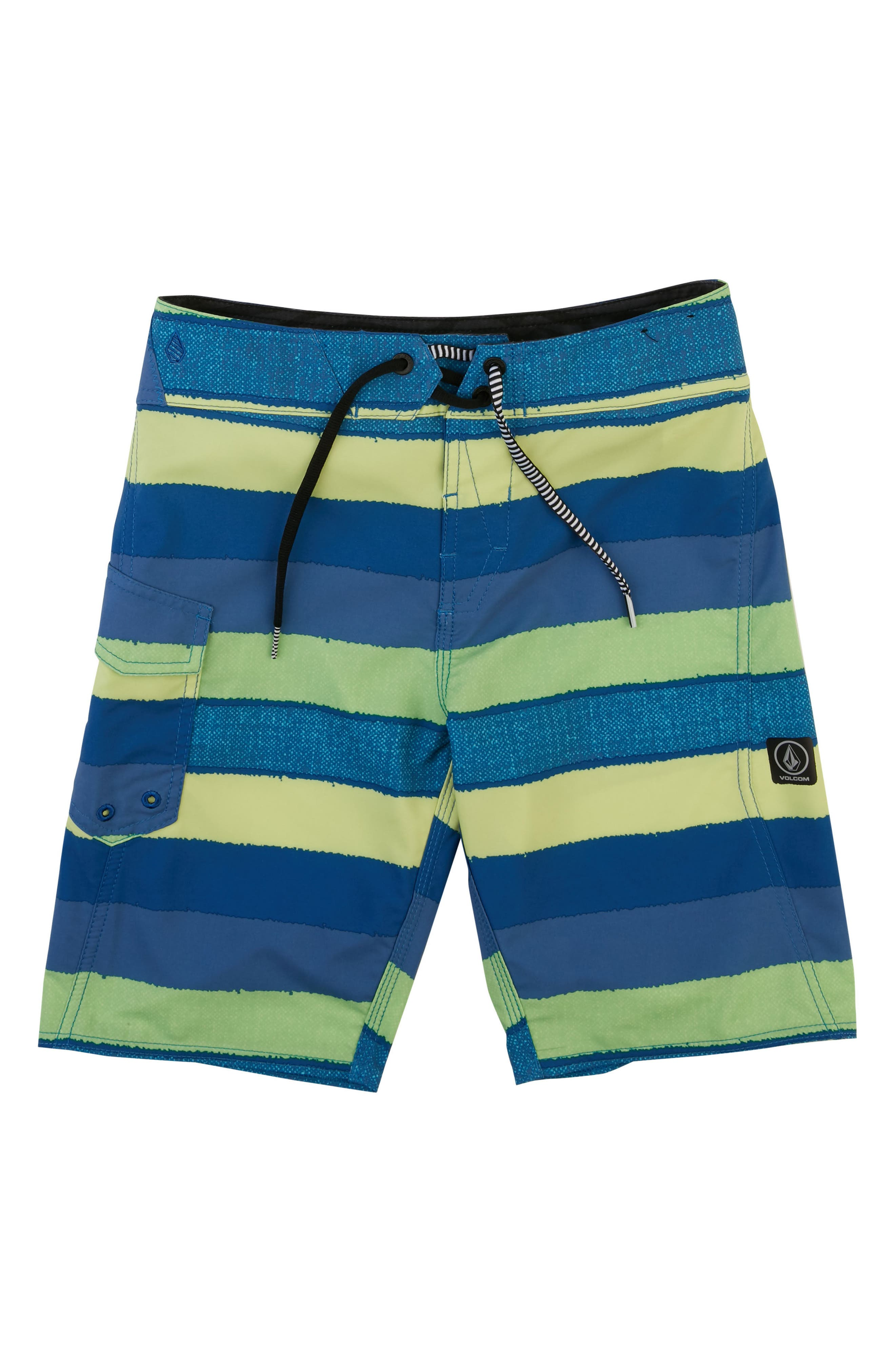 Magnetic Liney Mod Board Shorts,                         Main,                         color, Shadow Lime