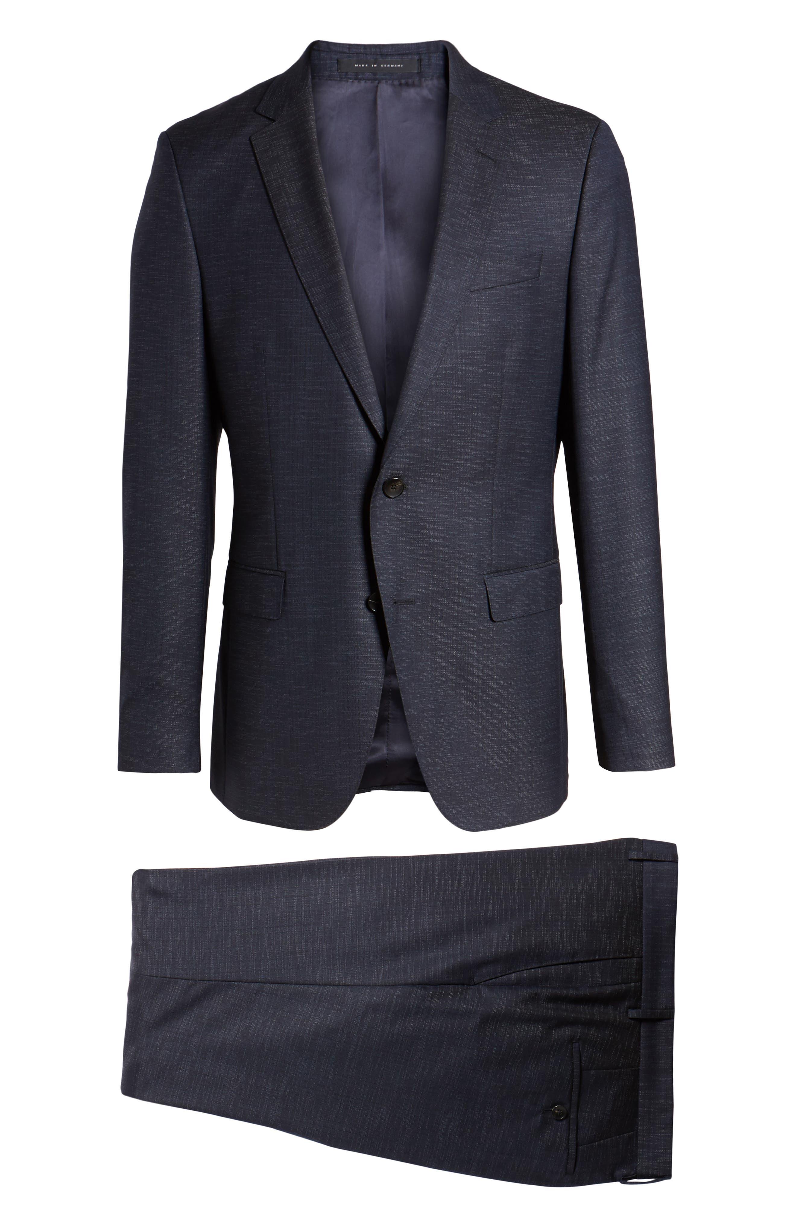 Novan/Ben Trim Fit Solid Wool Blend Suit,                             Alternate thumbnail 8, color,                             Navy