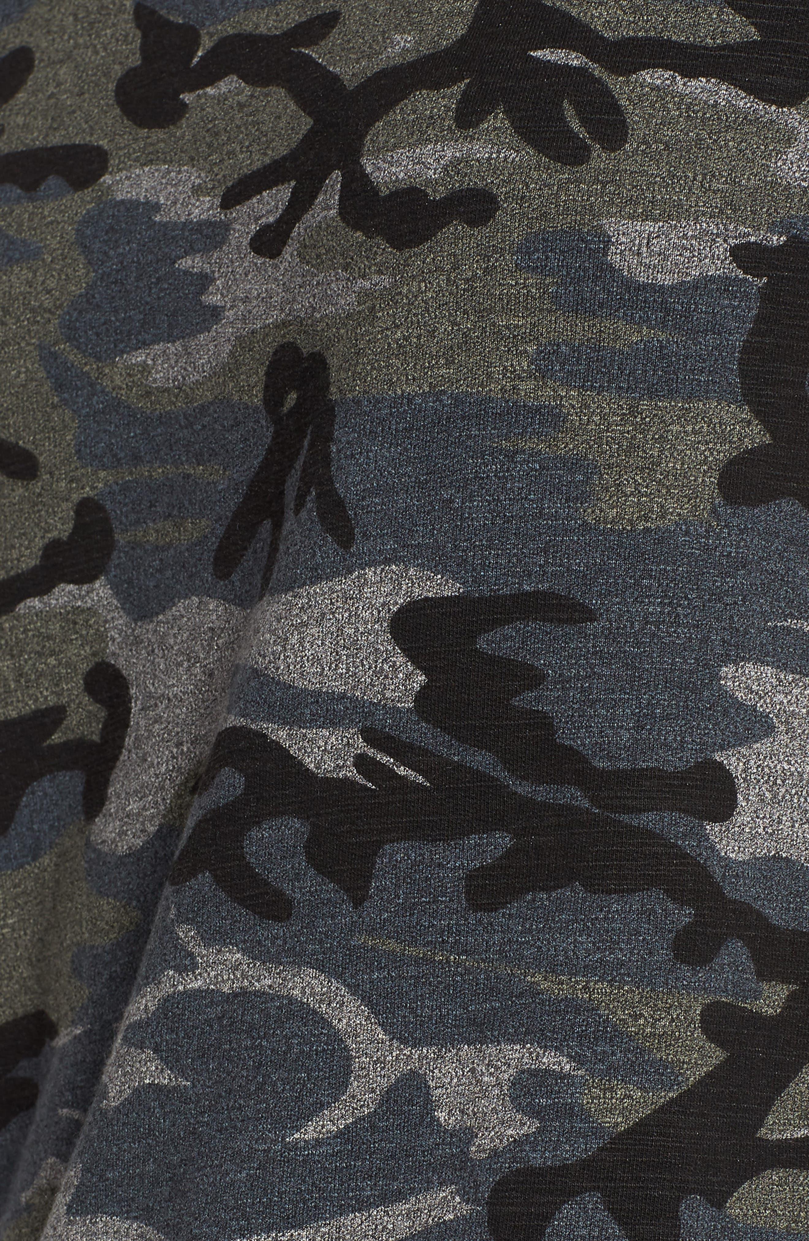 Camo Pullover,                             Alternate thumbnail 6, color,                             Grey