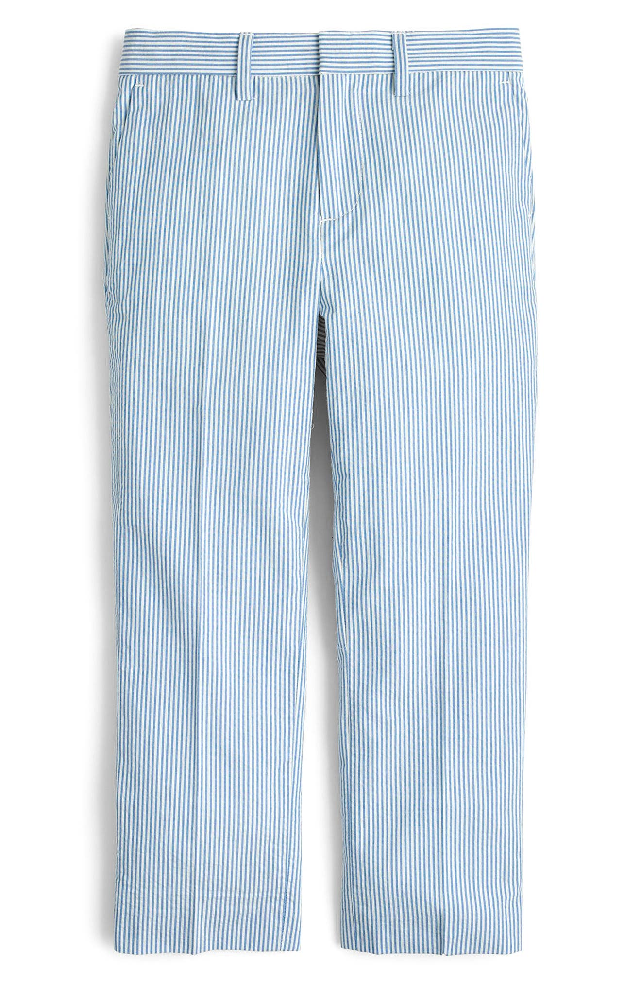Ludlow Seersucker Pants,                         Main,                         color, Crisp Azure White