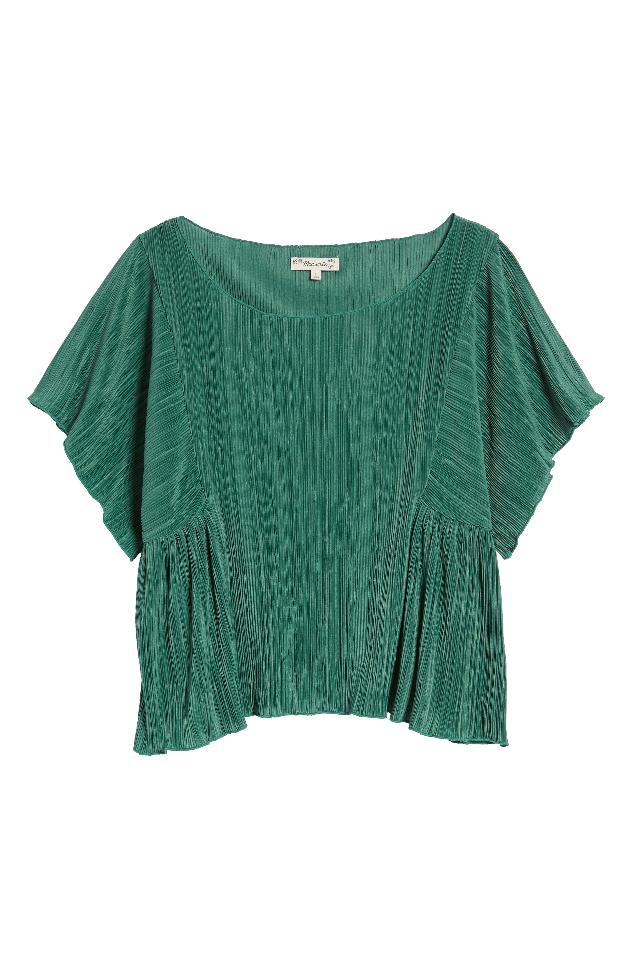 Micropleat Top,                             Alternate thumbnail 7, color,                             Dark Green