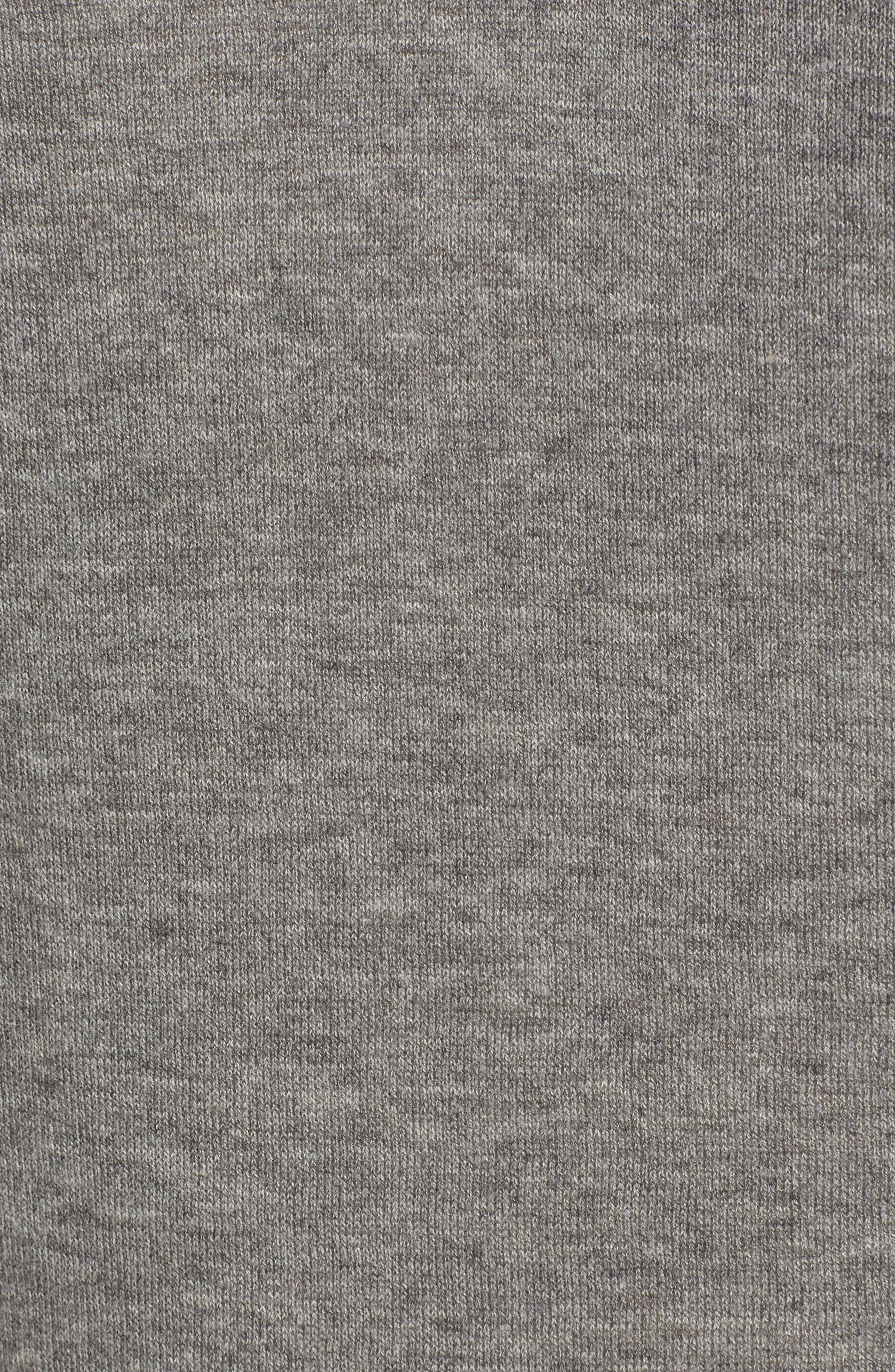 Lux Cotton Sweater,                             Alternate thumbnail 6, color,                             Heather Grey