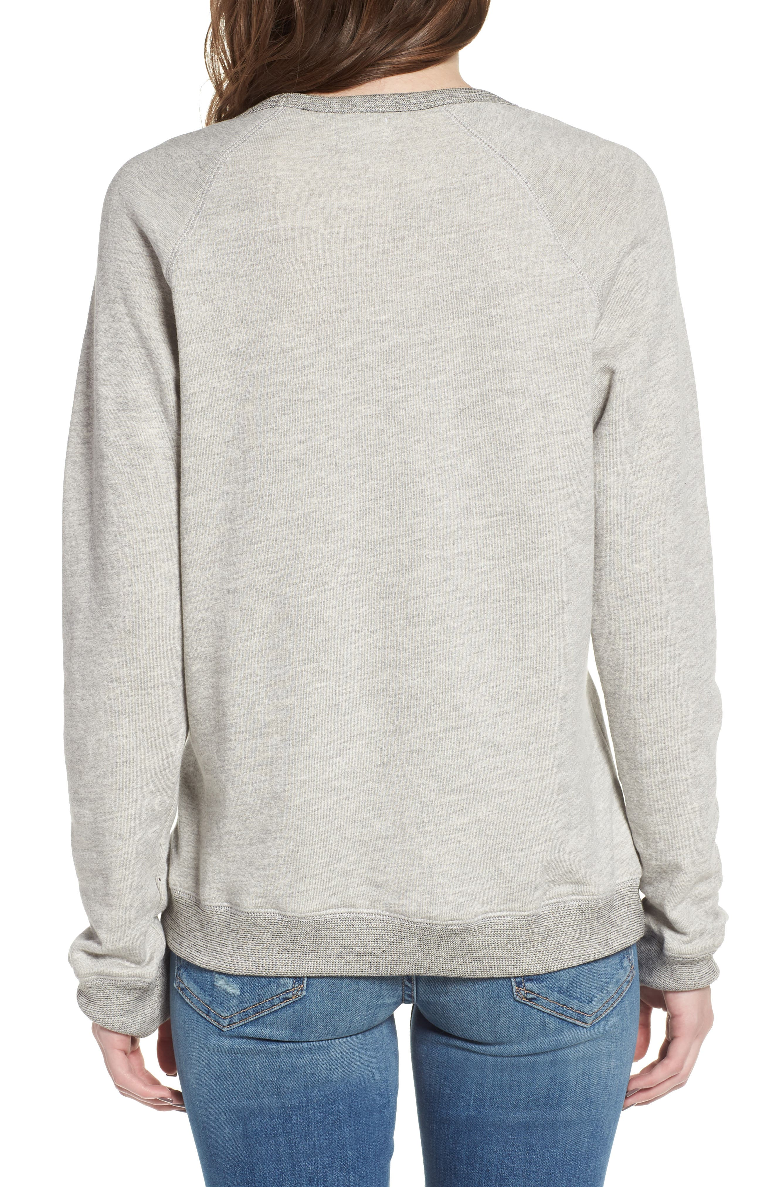 Influencer Sweatshirt,                             Alternate thumbnail 2, color,                             Heather Grey