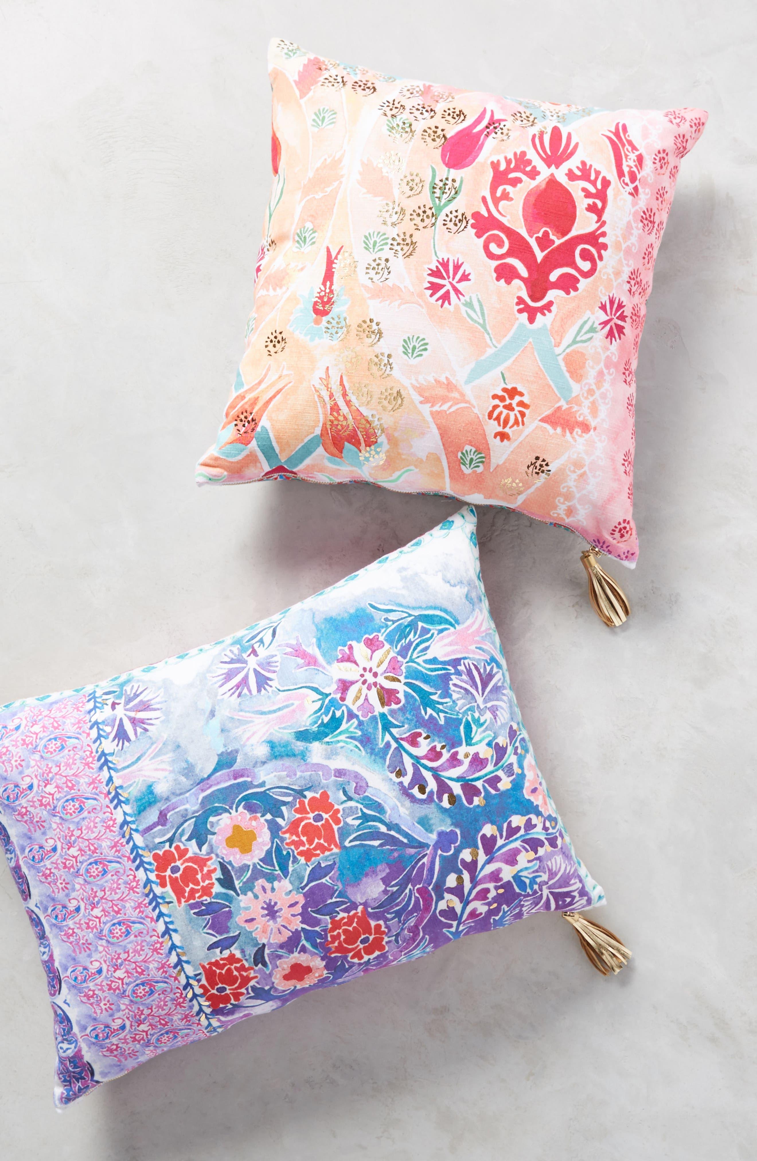 Tali Accent Pillow,                             Alternate thumbnail 4, color,                             Peach