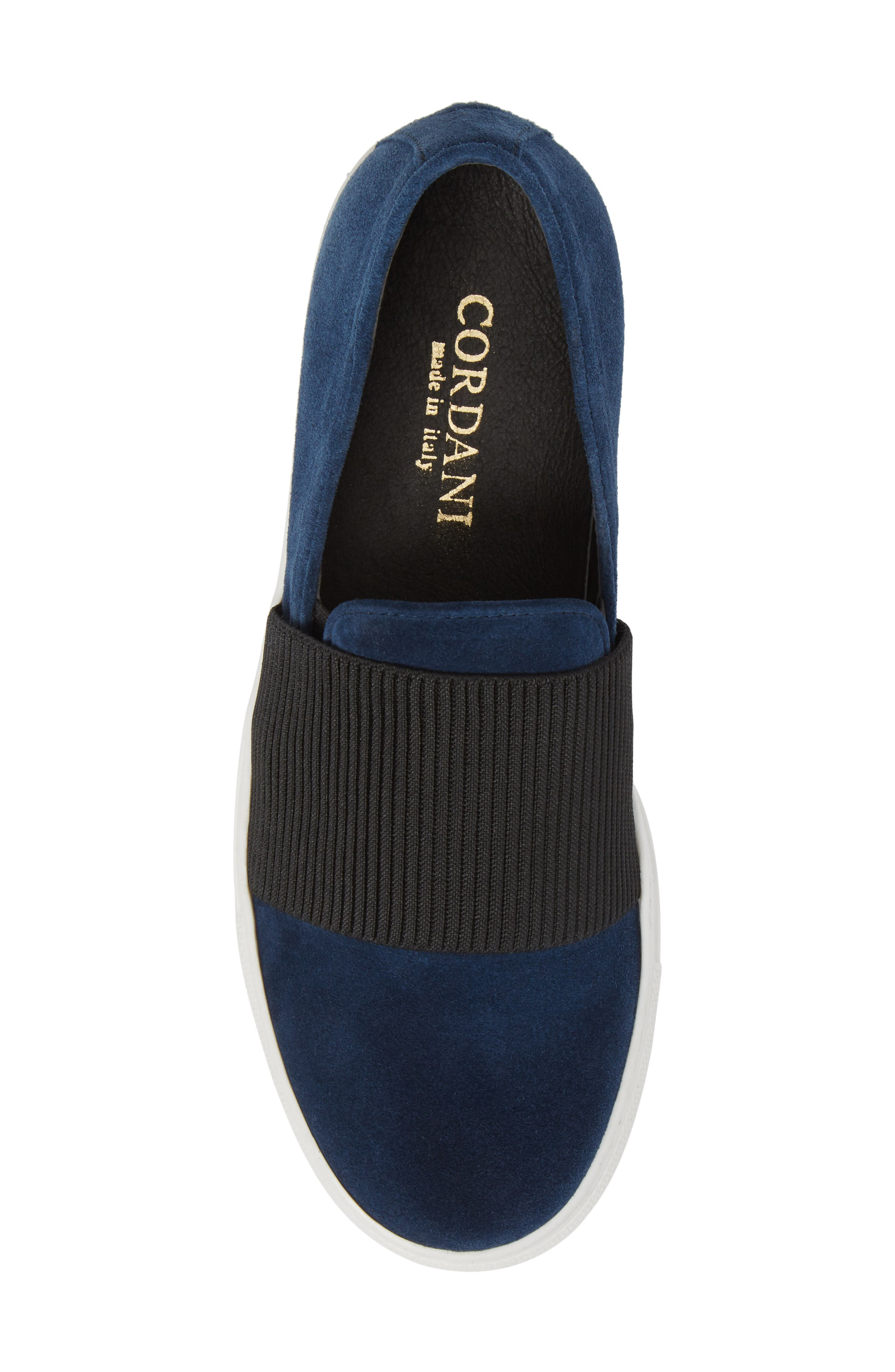 Otto Slip-On Sneaker,                             Alternate thumbnail 5, color,                             Navy Suede