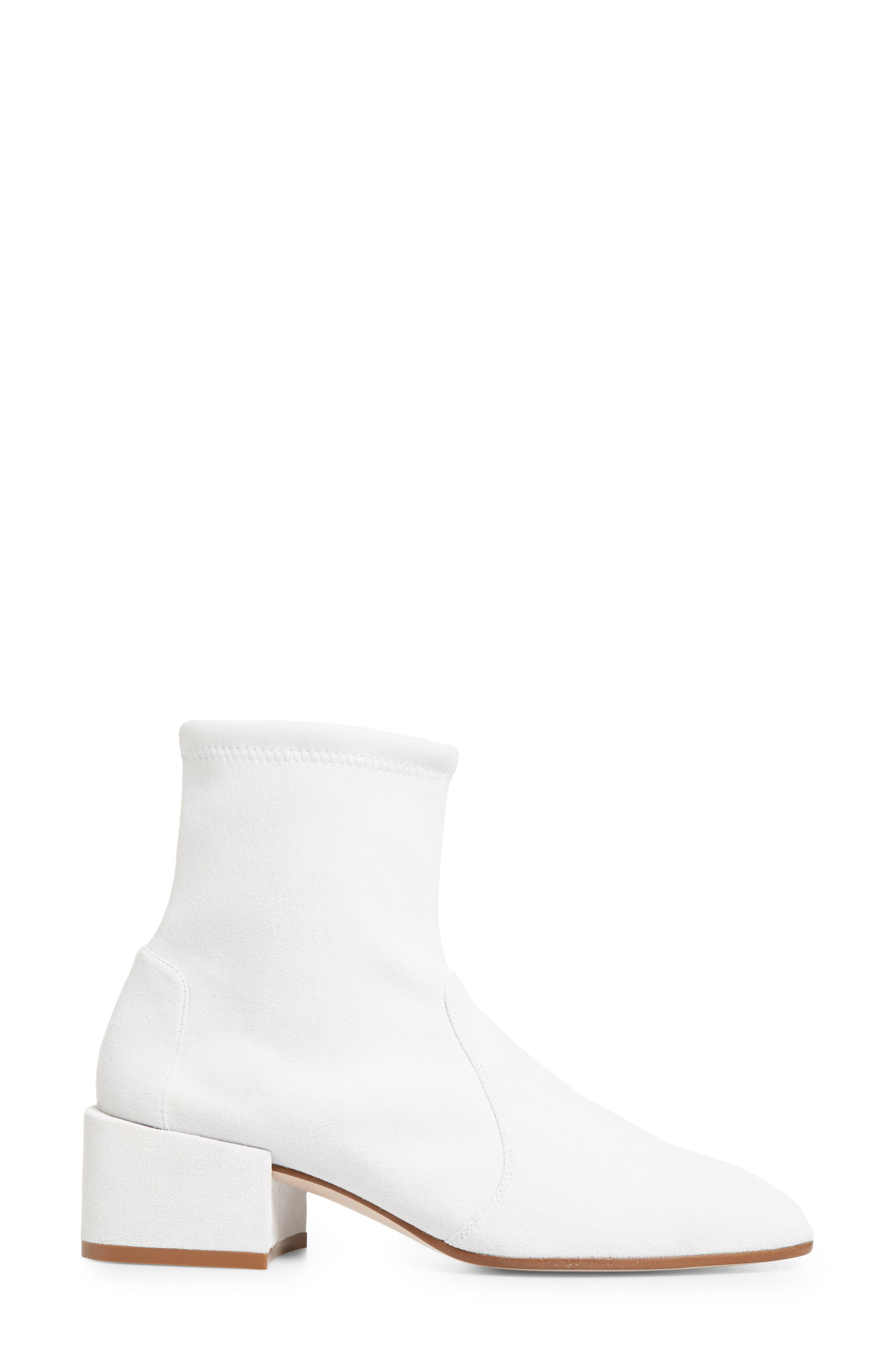 Accordion Bootie,                             Alternate thumbnail 3, color,                             Off White Seda Suede