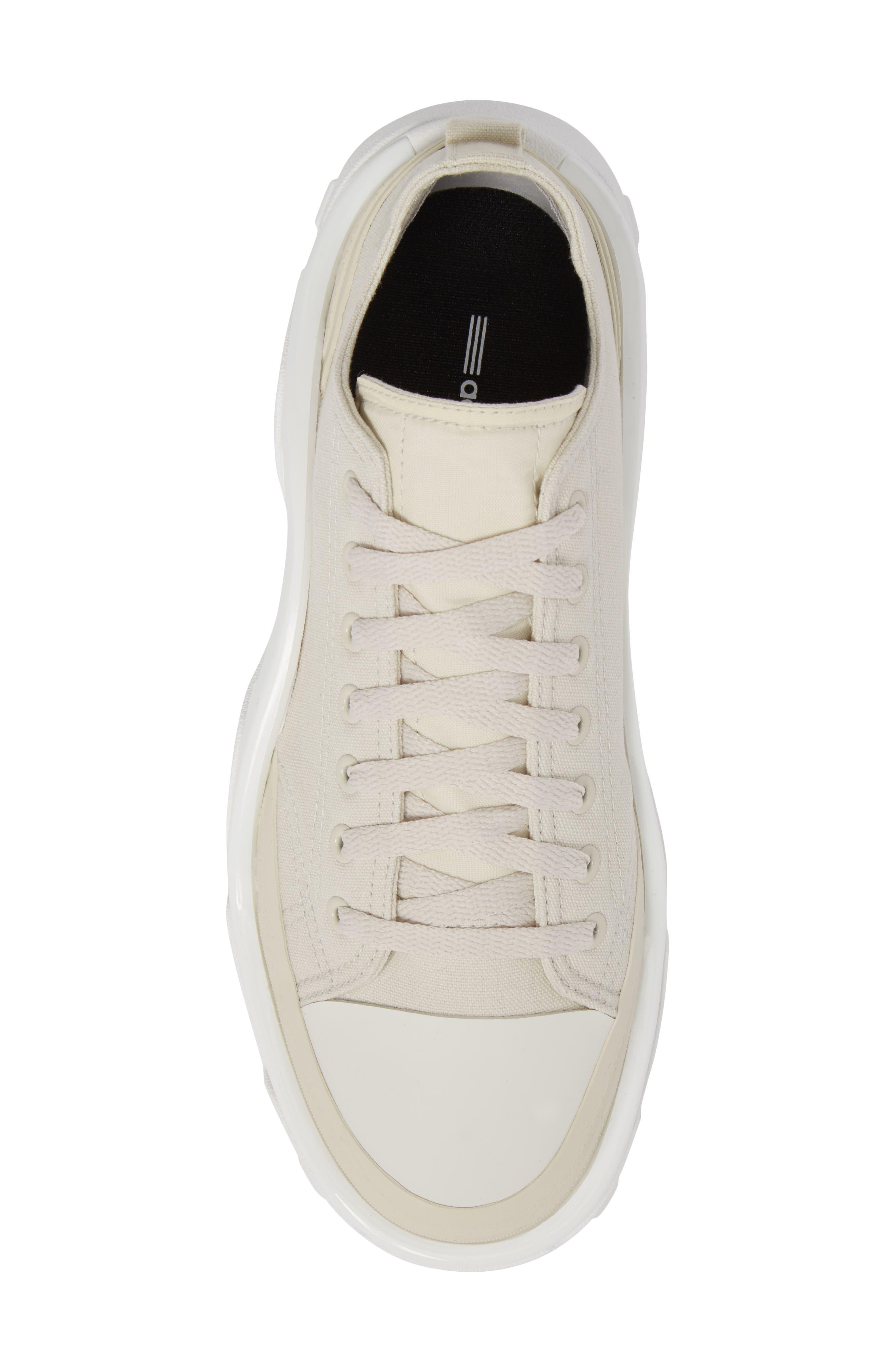 Detroit Low Top Sneaker,                             Alternate thumbnail 5, color,                             Beige/ White