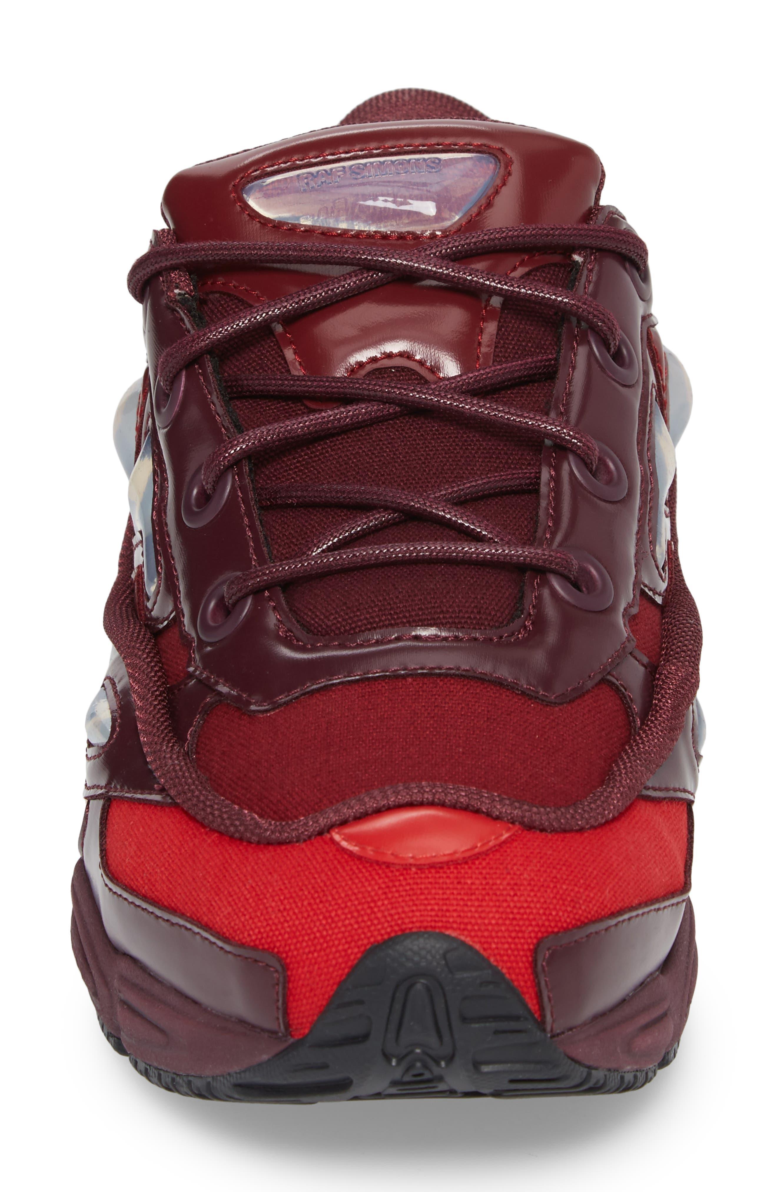 adidas by Raf Simons Ozweego III Sneaker,                             Alternate thumbnail 4, color,                             Burgundy/ Maroon/ Scarlet