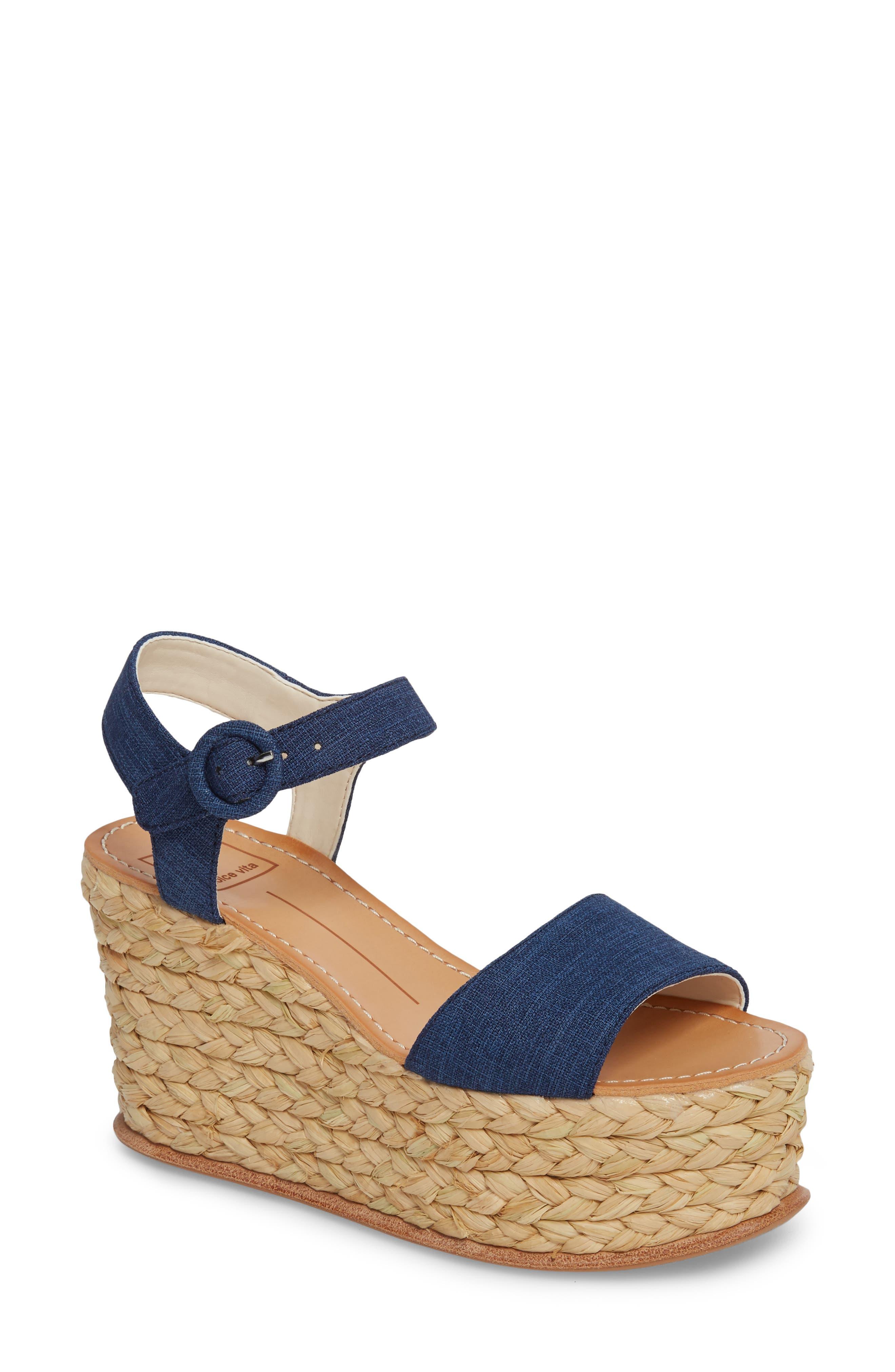 Dane Espadrille Wedge Sandal,                         Main,                         color, Indigo