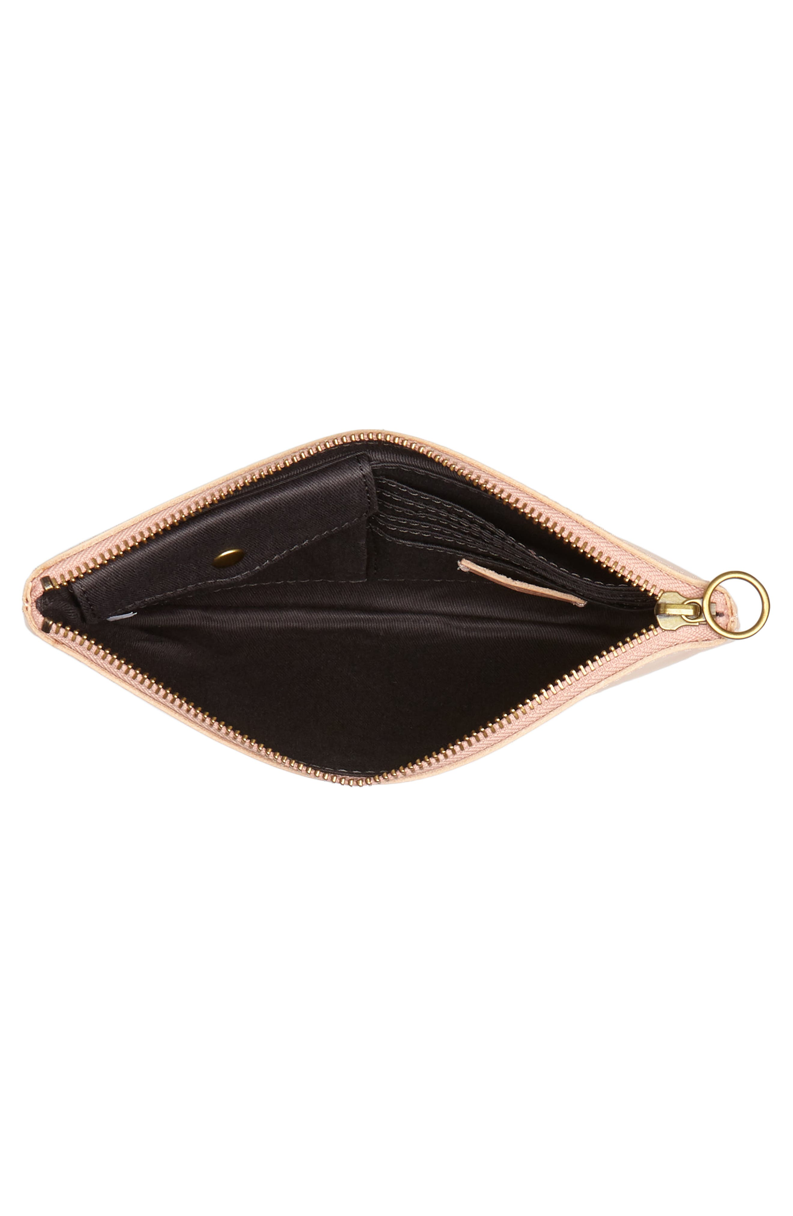The Leather Pouch Clutch,                             Alternate thumbnail 4, color,                             Petal Pink
