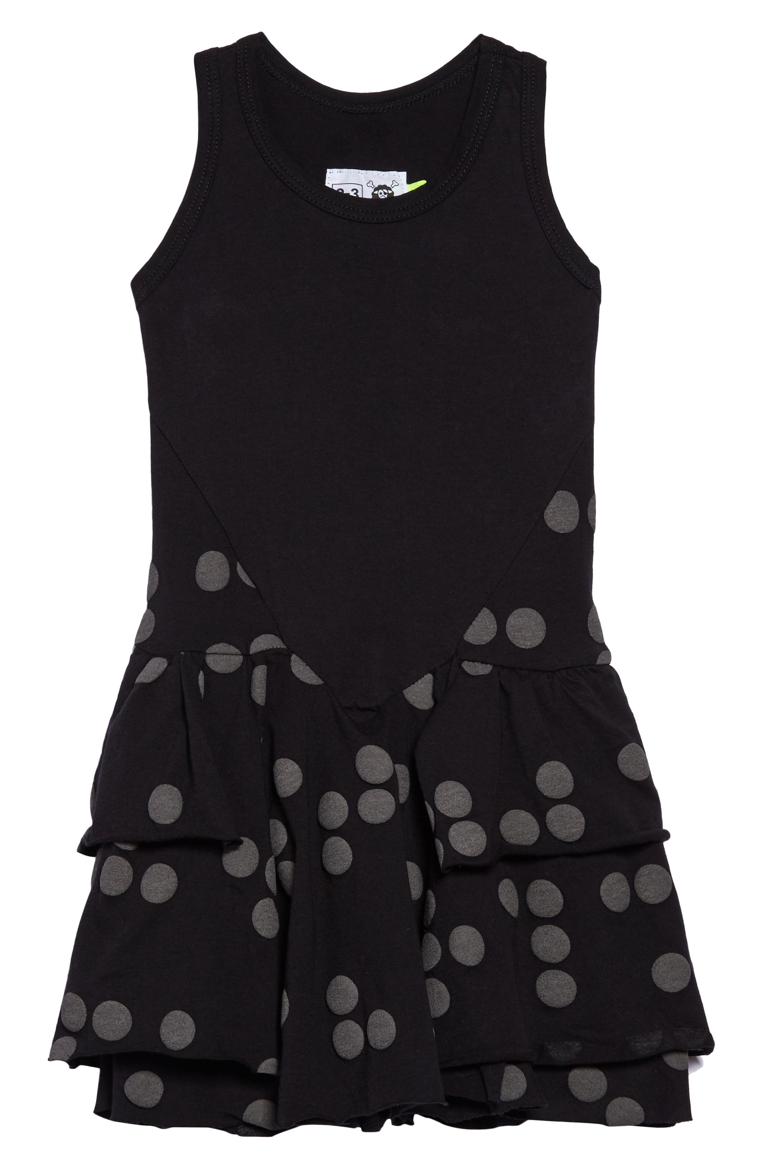 Braille Dot Layered Tank Dress,                         Main,                         color, White