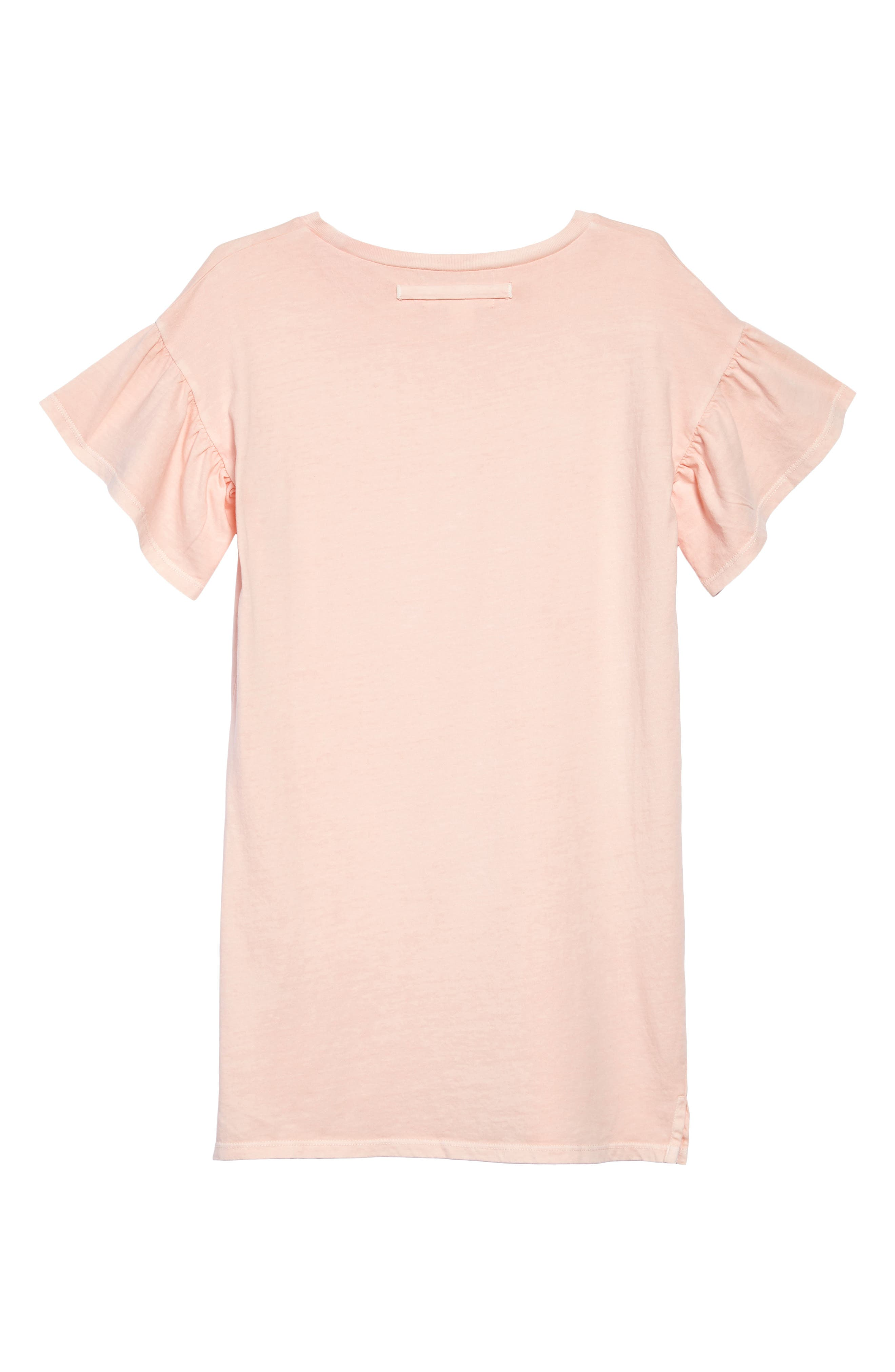 Ruffle Sleeve T-Shirt Dress,                             Alternate thumbnail 2, color,                             Pink Glow