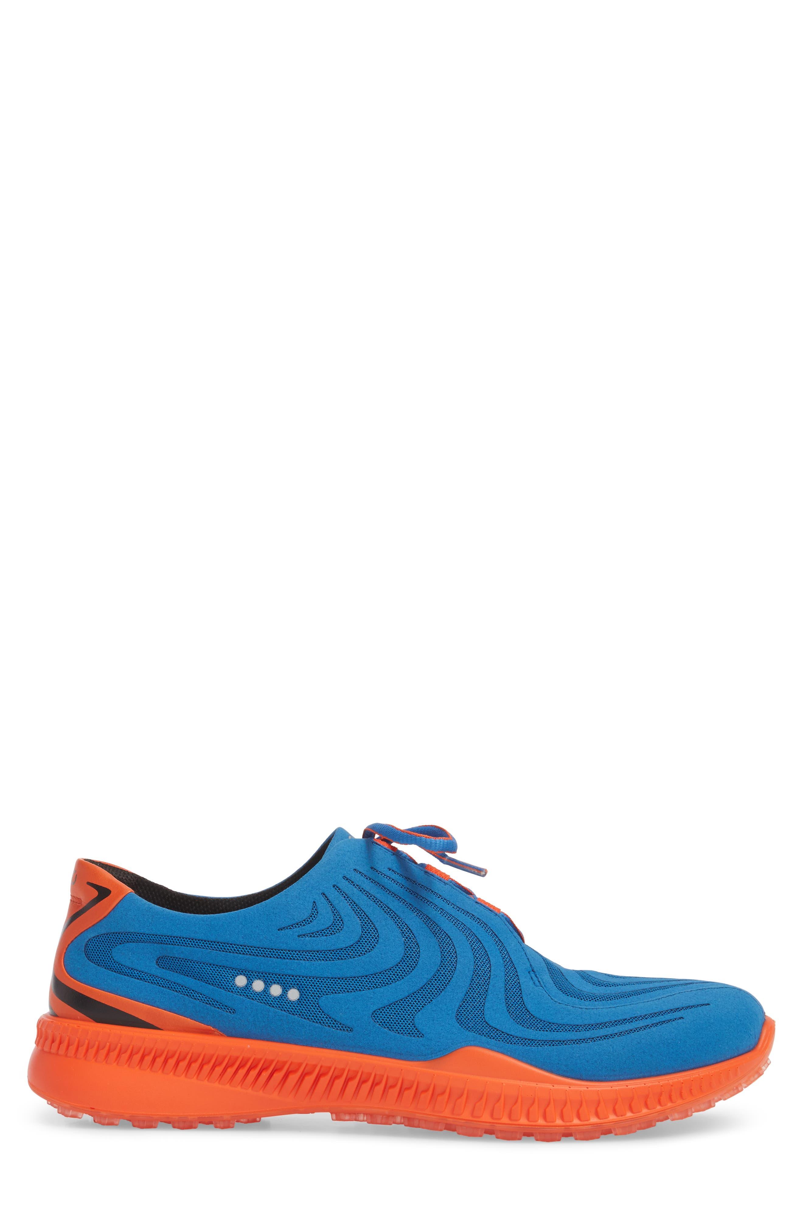 Golf S-Drive Water Resistant Shoe,                             Alternate thumbnail 3, color,                             Bermuda Blue Leather