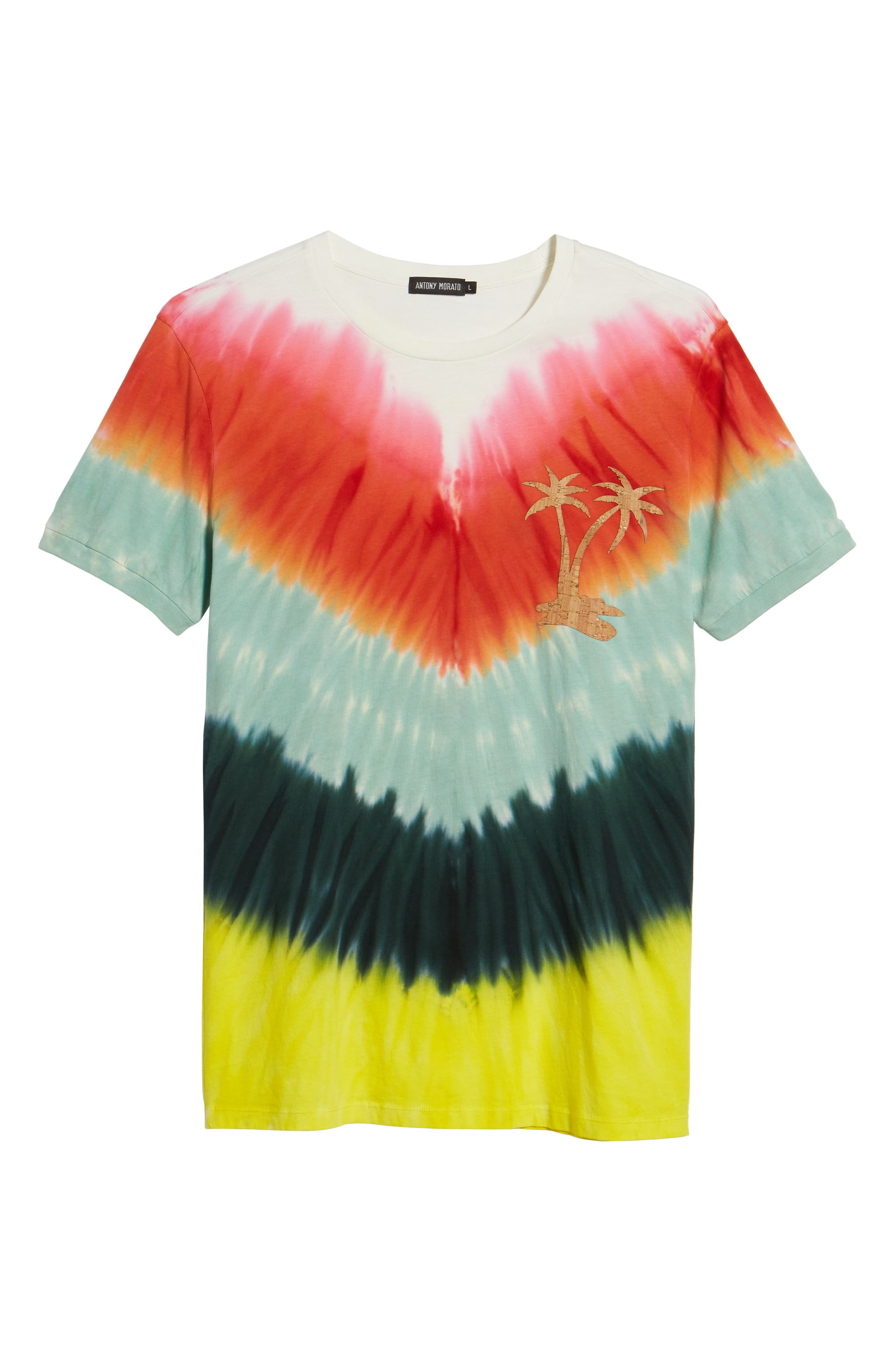 Tye Dye Graphic T-Shirt,                             Alternate thumbnail 6, color,                             Multi Color