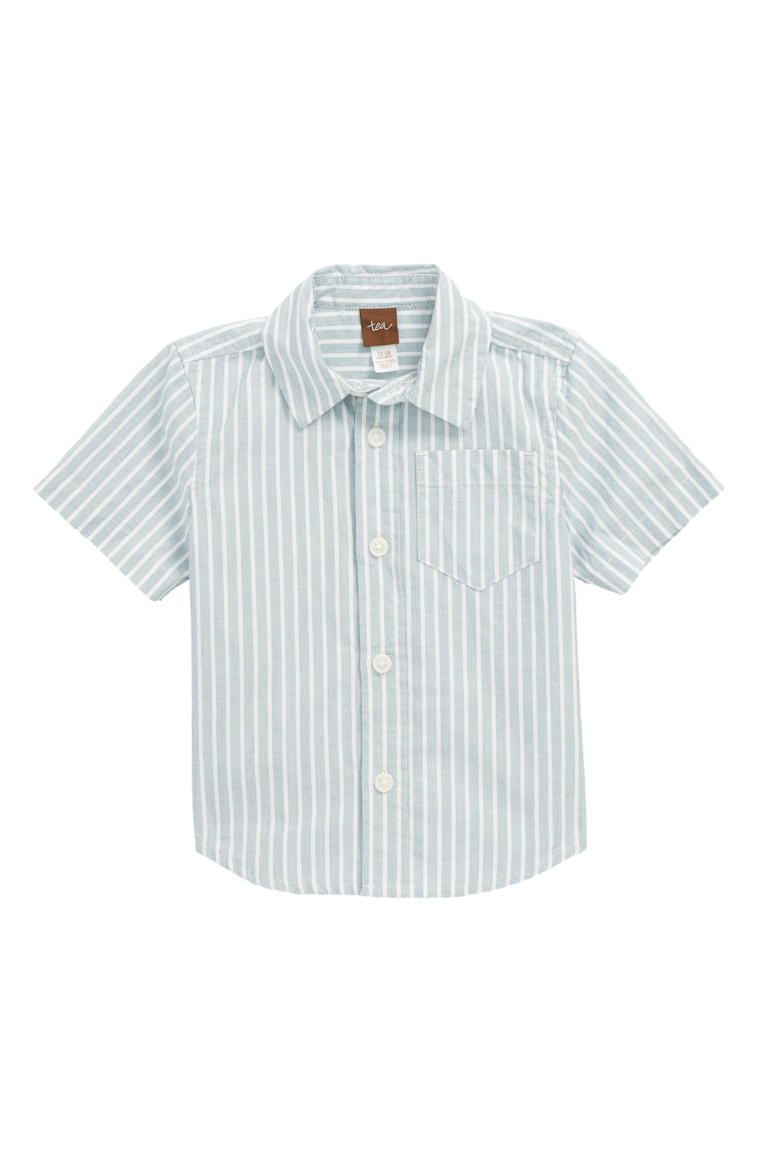 Tea Collection Stripe Woven Shirt (Baby Boys)