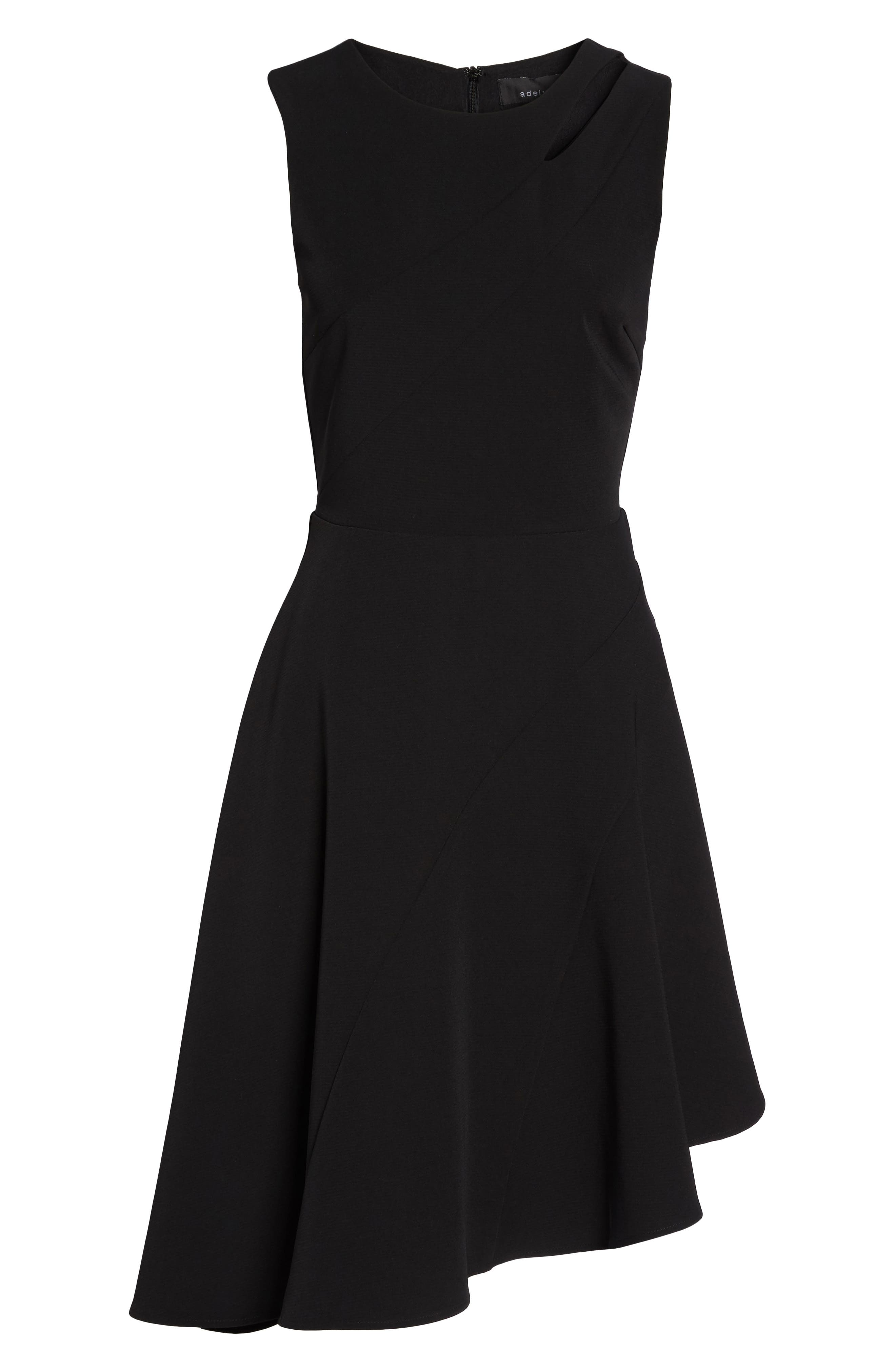Alternate Image 6  - Adelyn Rae Bonnie Asymmetrical Fit & Flare Dress