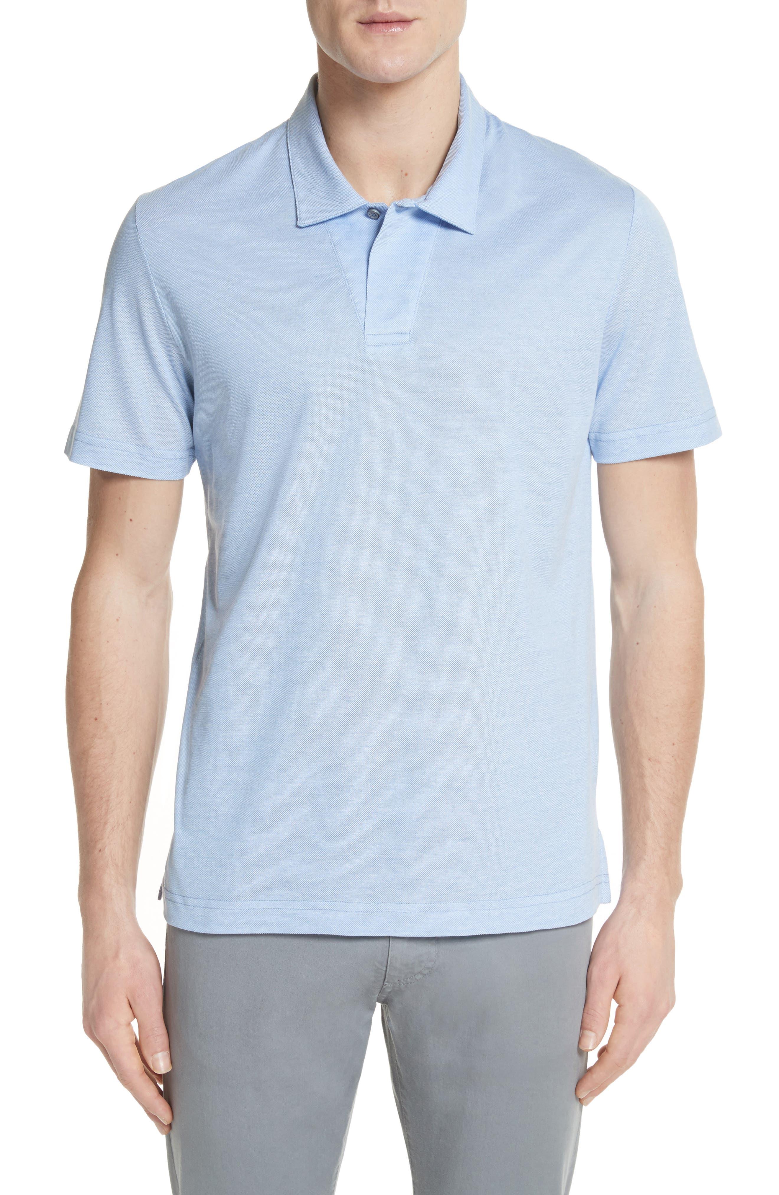 Piqué Polo Shirt,                         Main,                         color, Sky Blue
